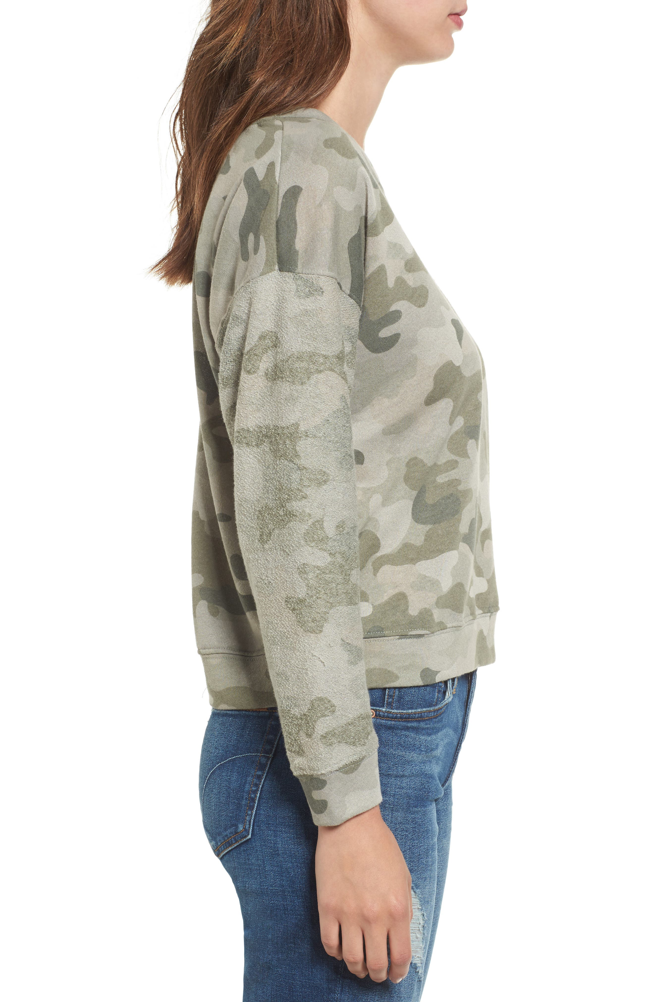 Alternate Image 3  - Rails Kelli Camo Print Sweatshirt