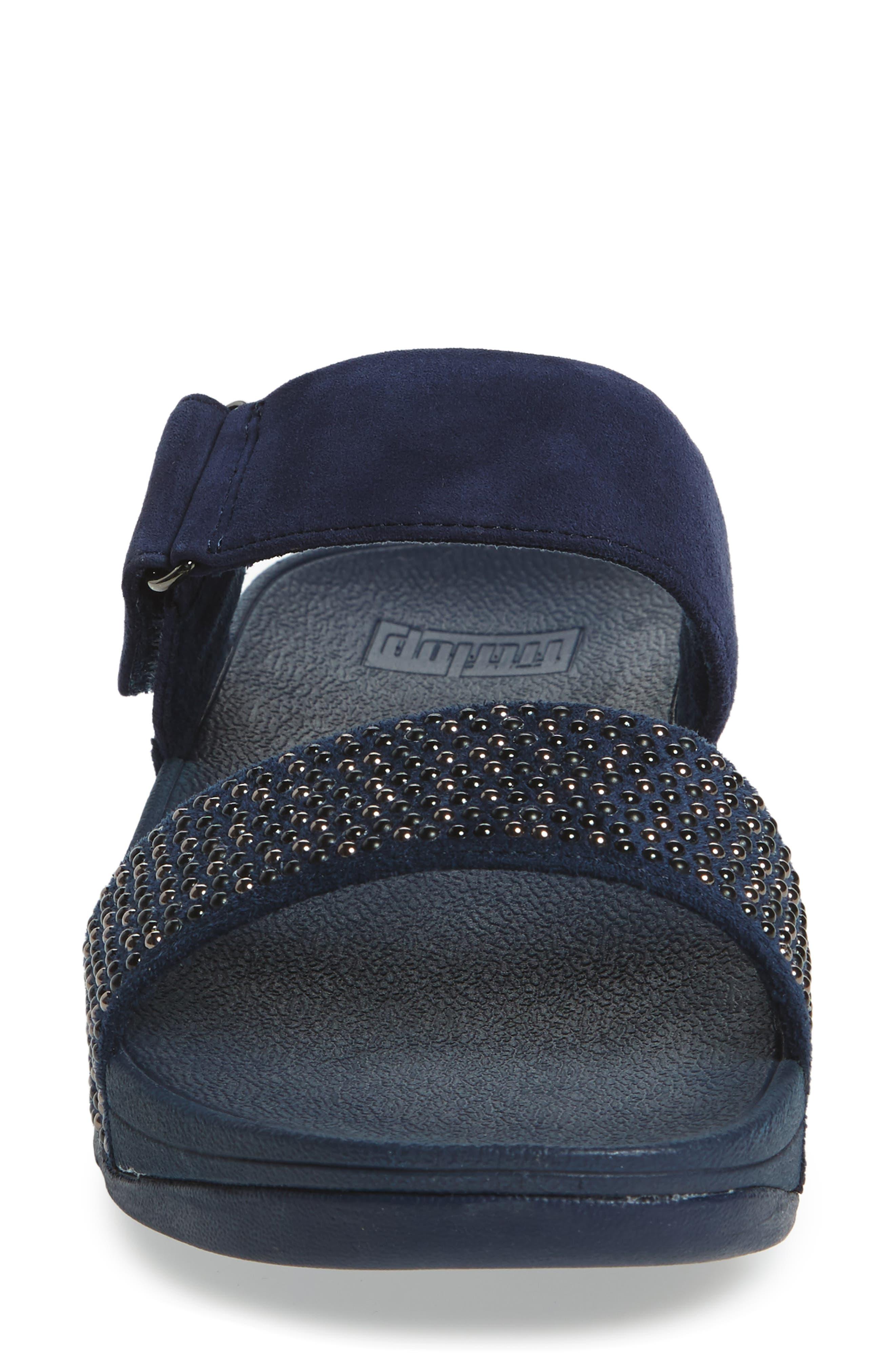 Alternate Image 4  - FitFlop Lulu Popstud Wedge Slide Sandal (Women)