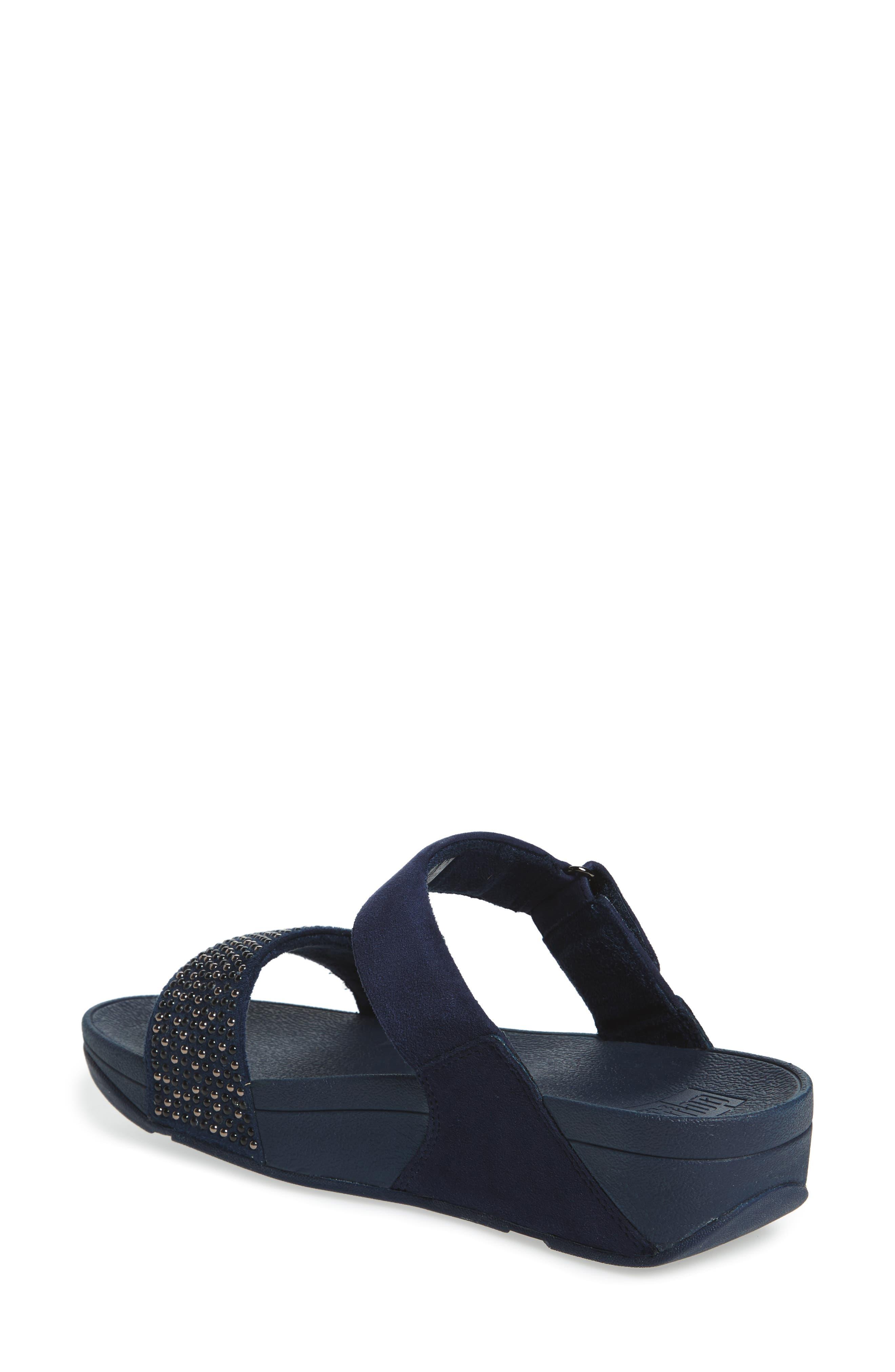 Alternate Image 2  - FitFlop Lulu Popstud Wedge Slide Sandal (Women)