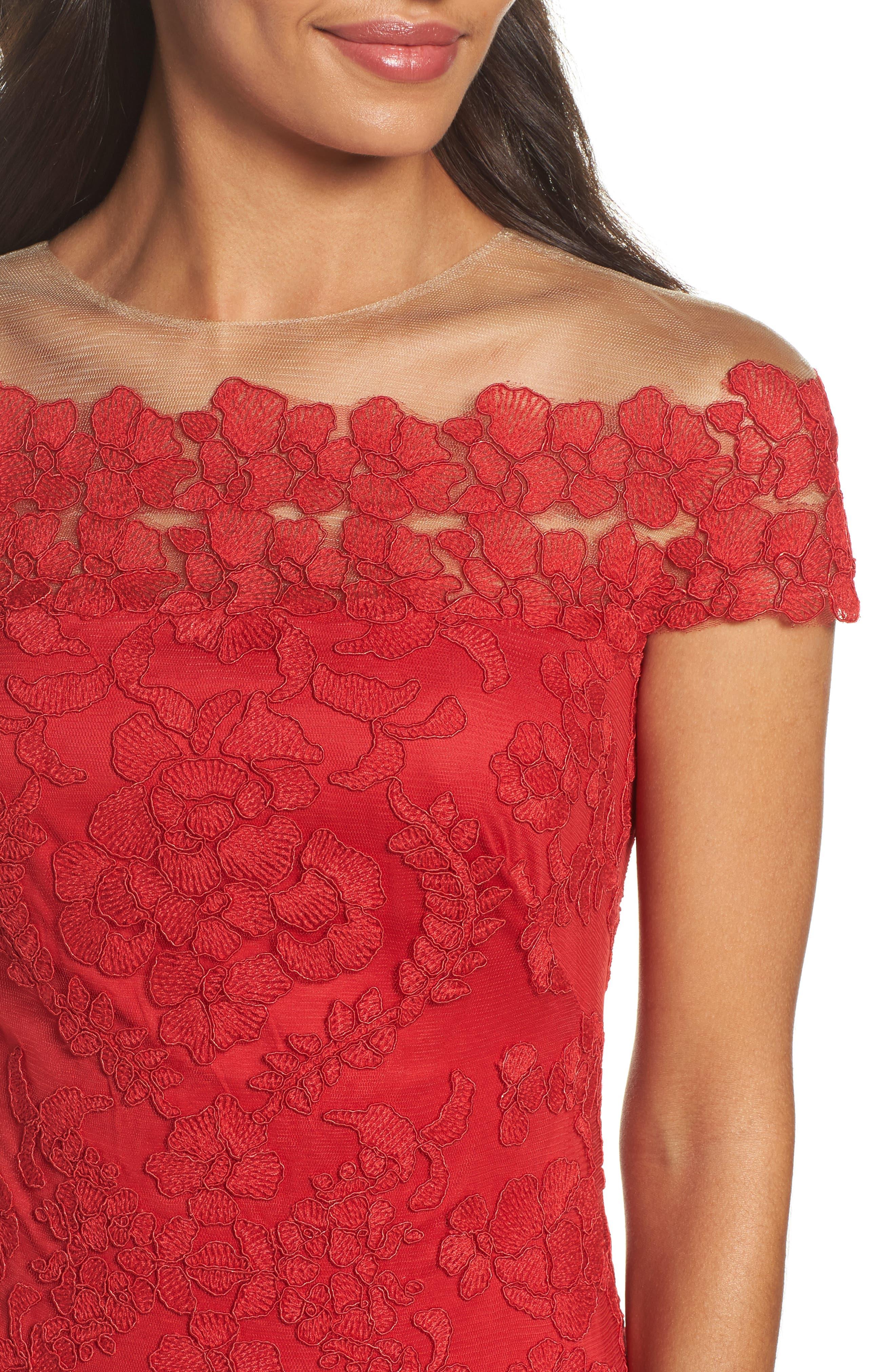 Alternate Image 4  - Tadashi Shoji Embroidered Sheath Dress