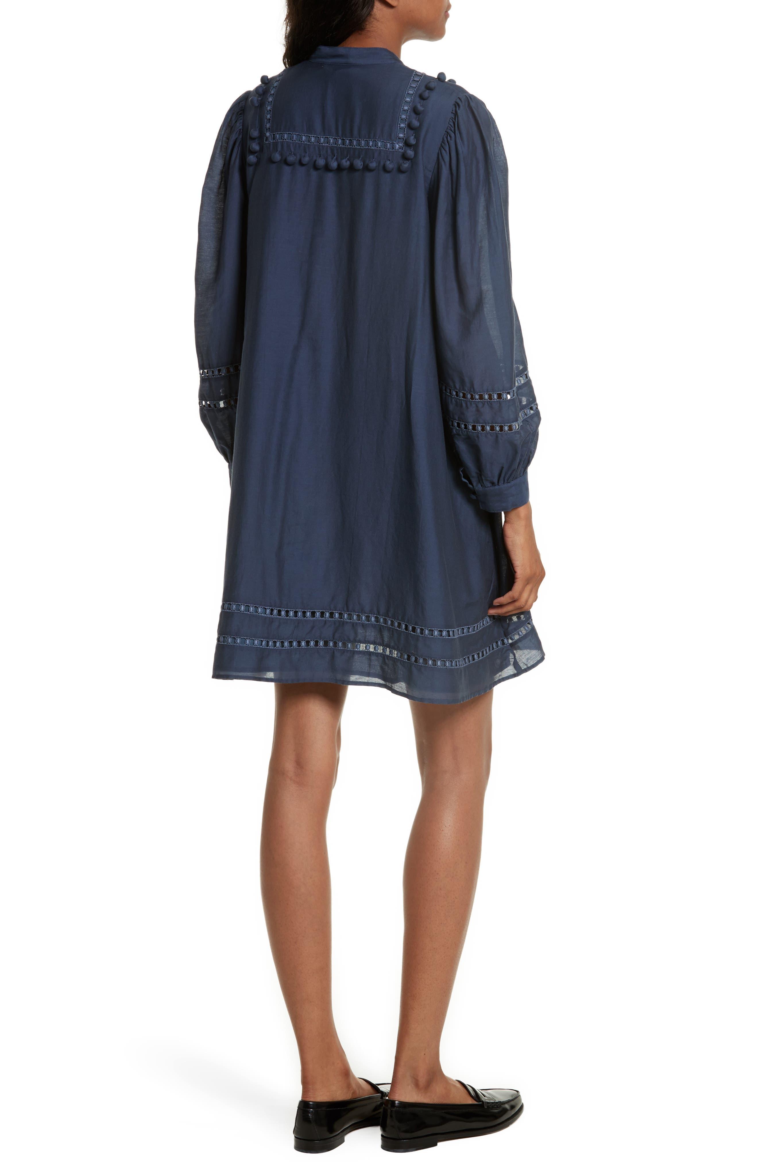 Alternate Image 2  - Sea Pompom Cotton & Silk Tunic Dress