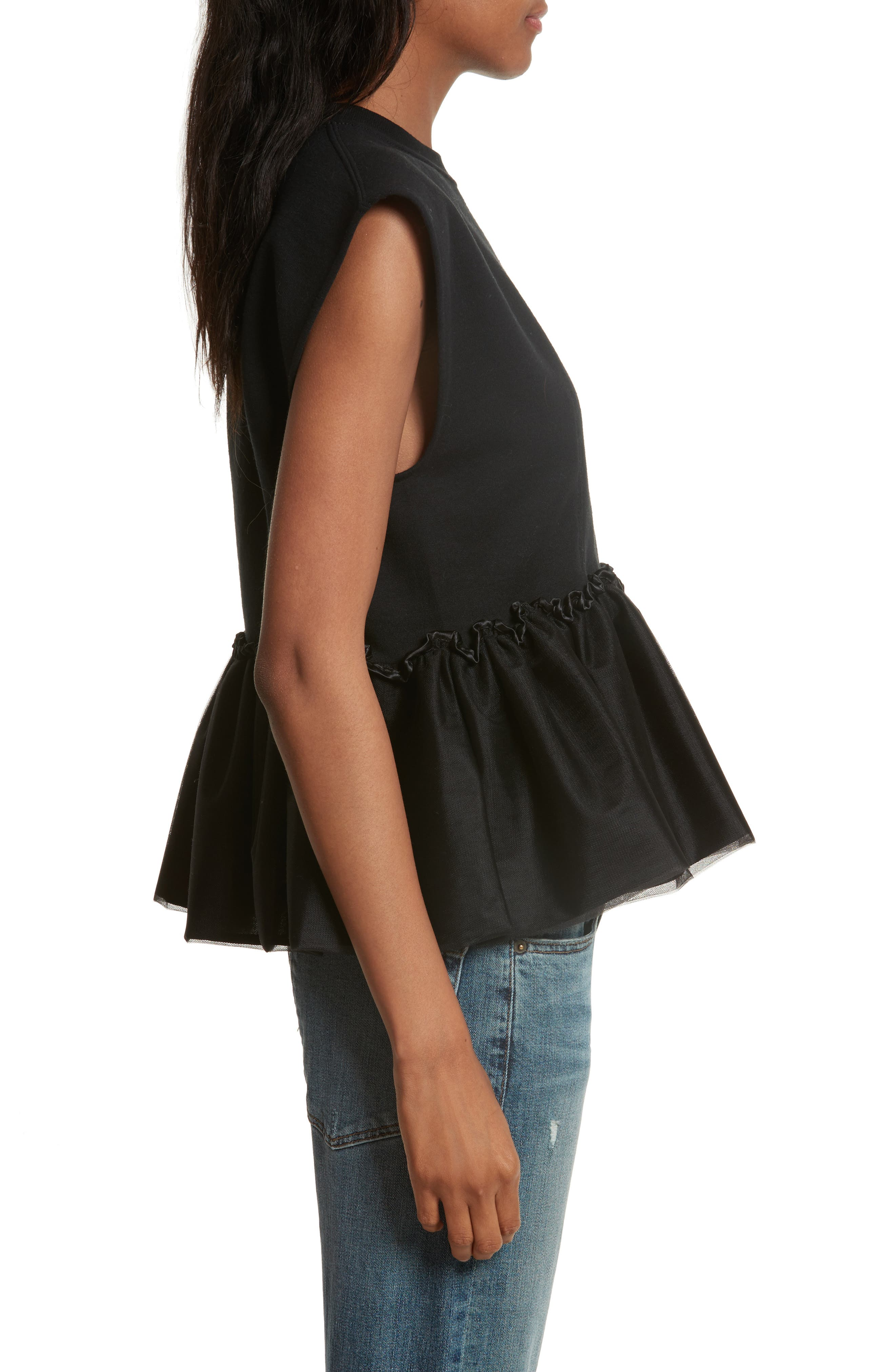 Alternate Image 3  - Harvey Faircloth Tulle Peplum Tank