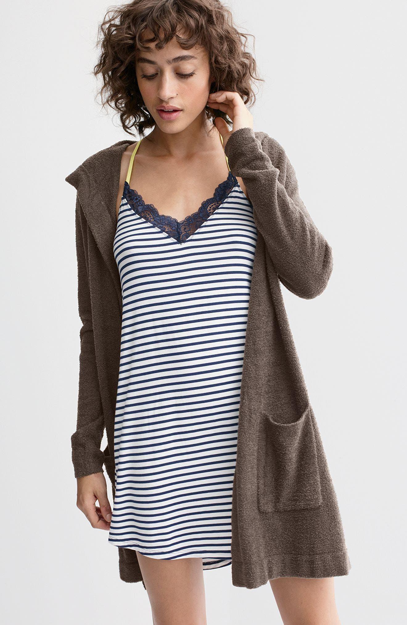 Alternate Image 7  - Barefoot Dreams® Cozychic Lite® Coastal Hooded Cardigan