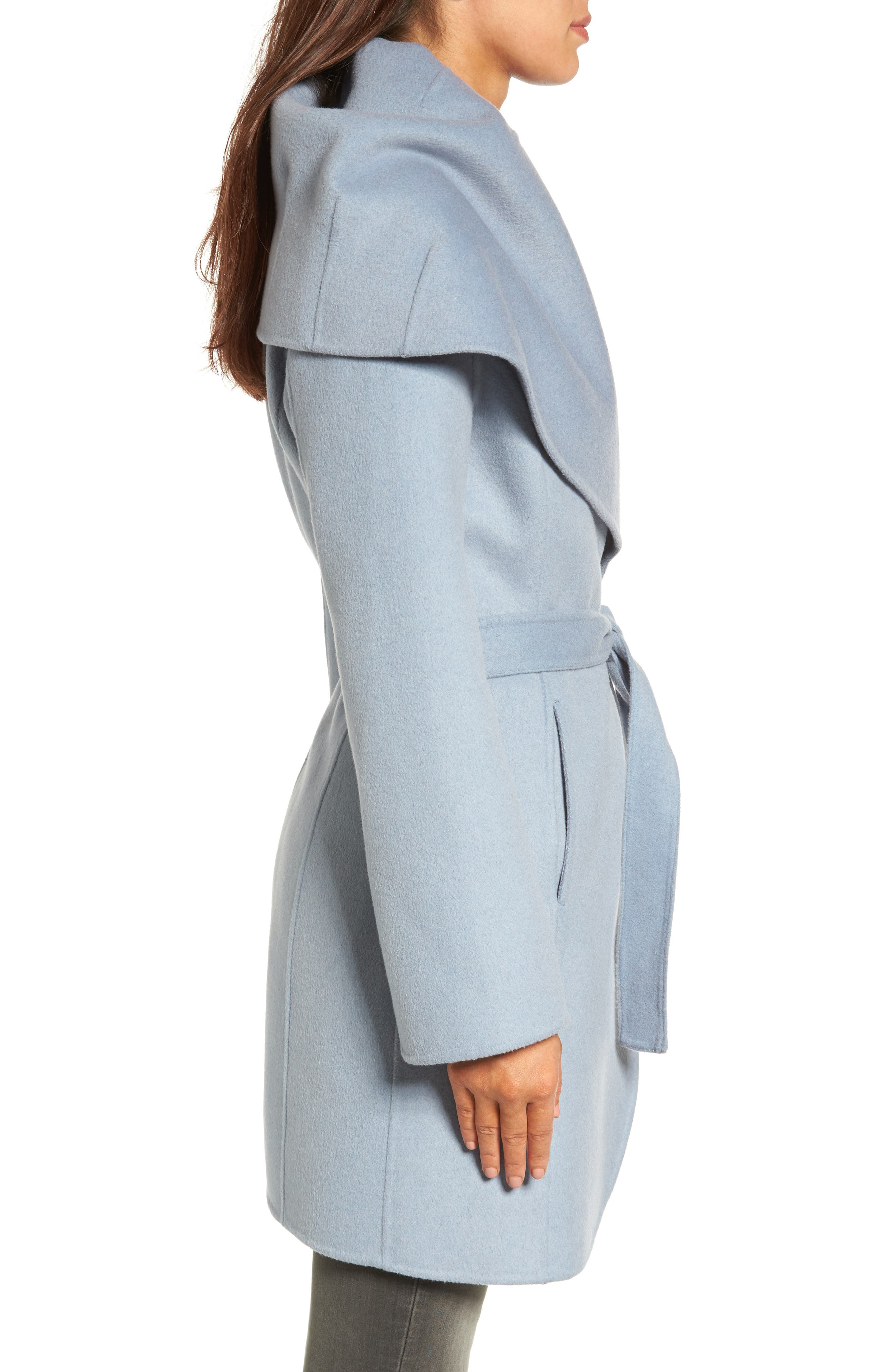 Alternate Image 3  - Tahari Marla Double Face Wool Blend Wrap Coat