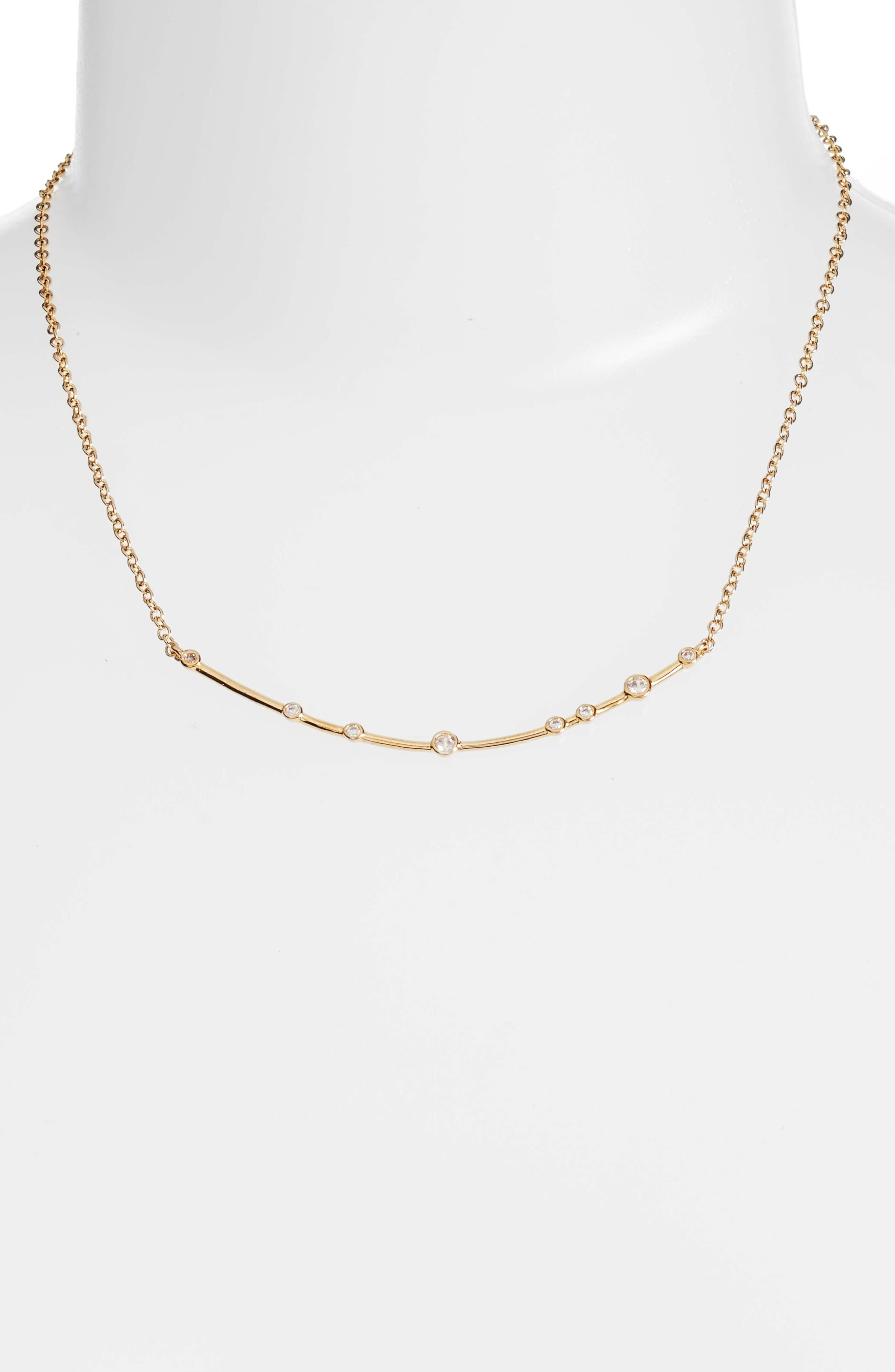 Main Image - Melinda Maria Crescent Necklace