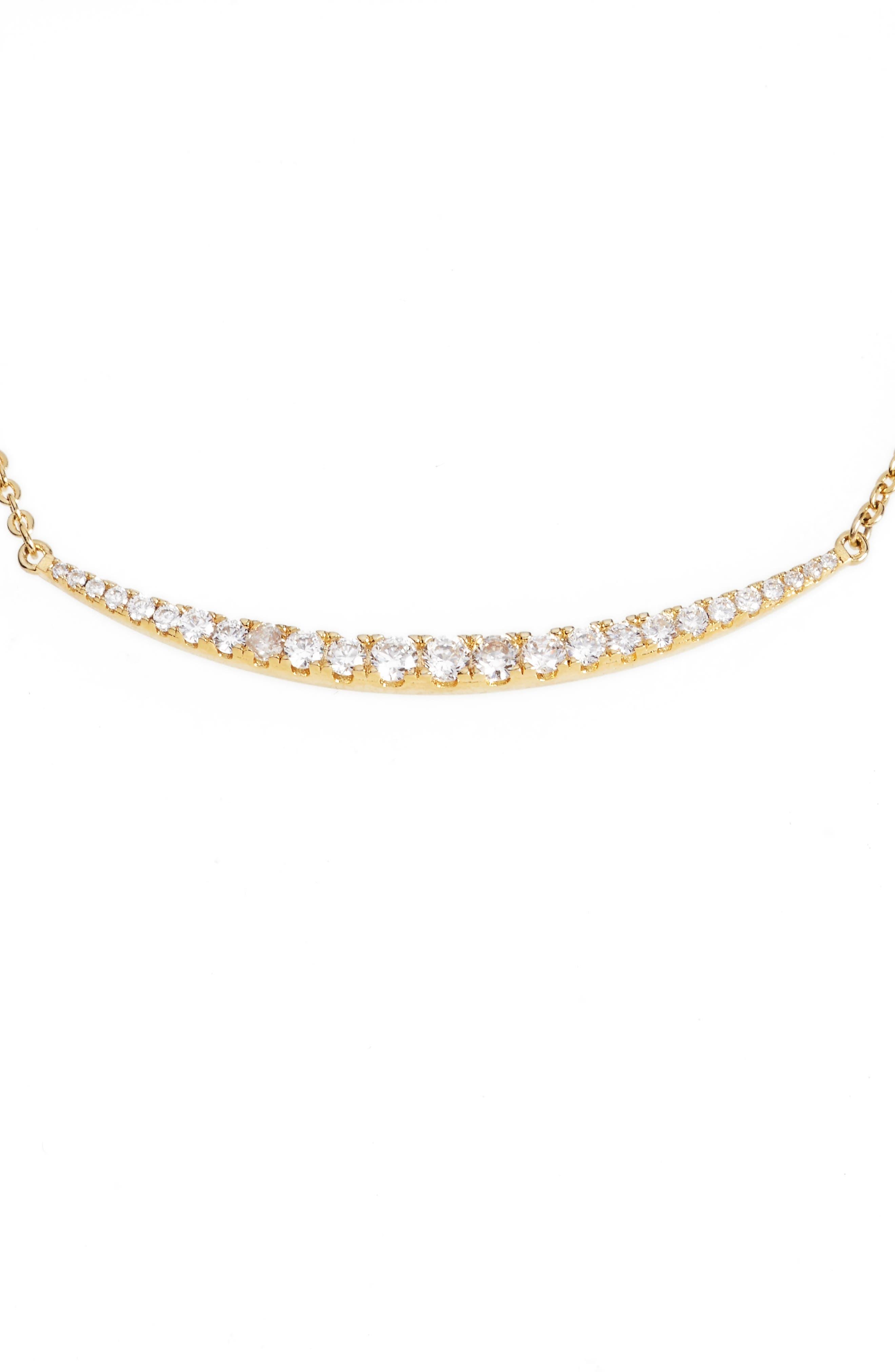 Alternate Image 3  - Melinda Maria Crescent Pendant Necklace