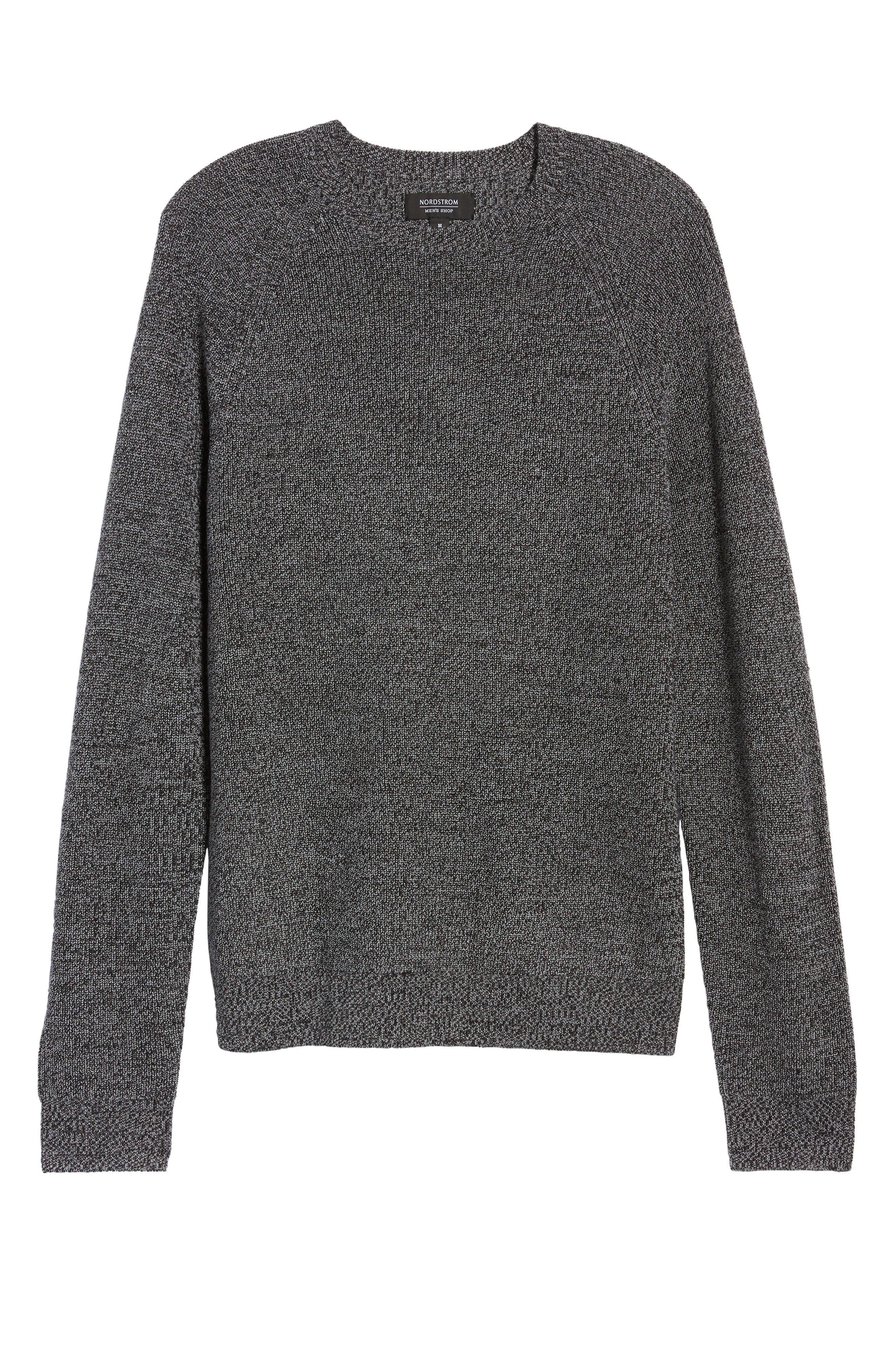 Alternate Image 6  - Nordstrom Men's Shop Textured Merino Wool Blend Sweater