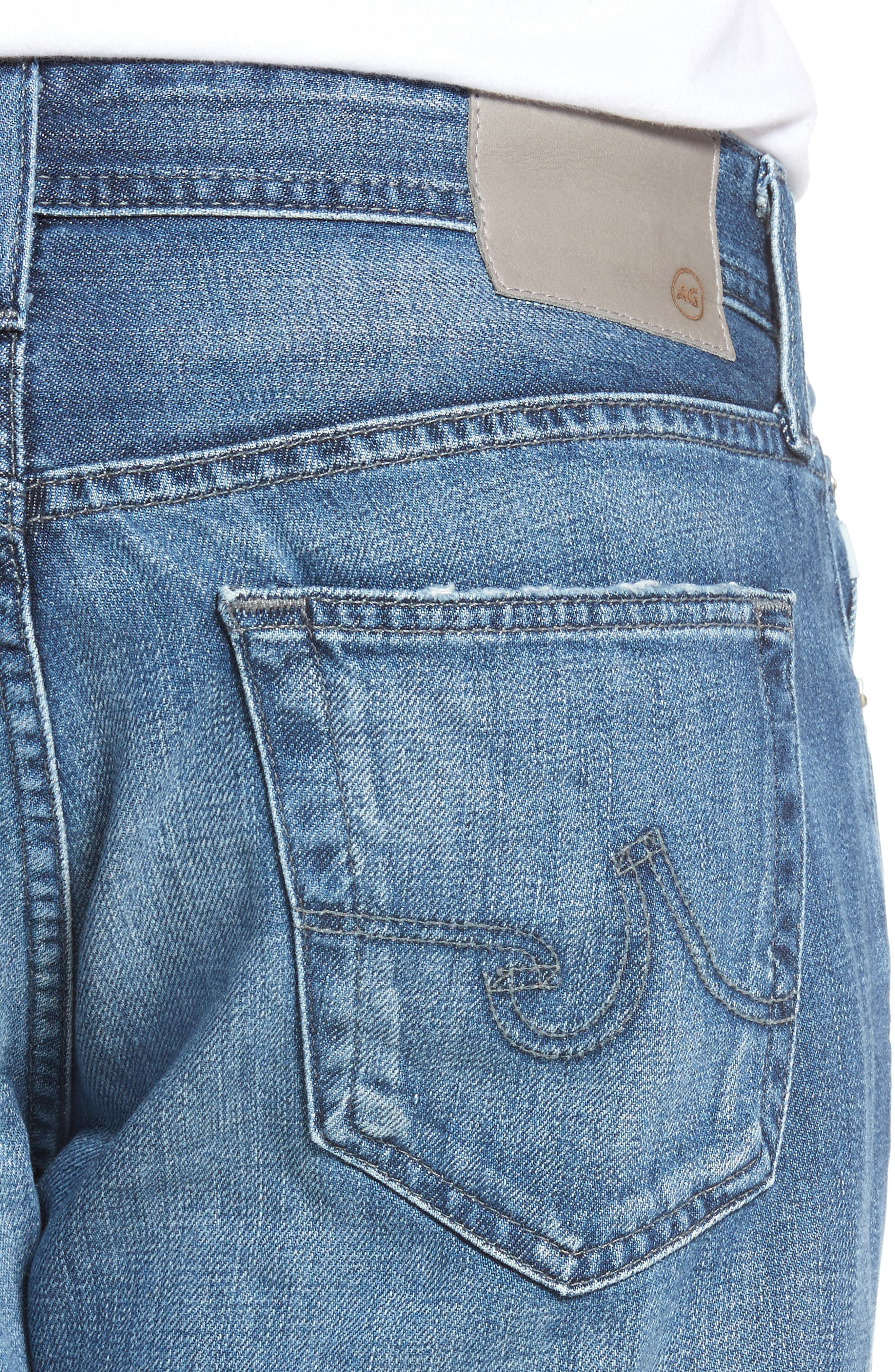 Alternate Image 4  - AG Graduate Slim Straight Fit Jeans (15 Years Forgery)