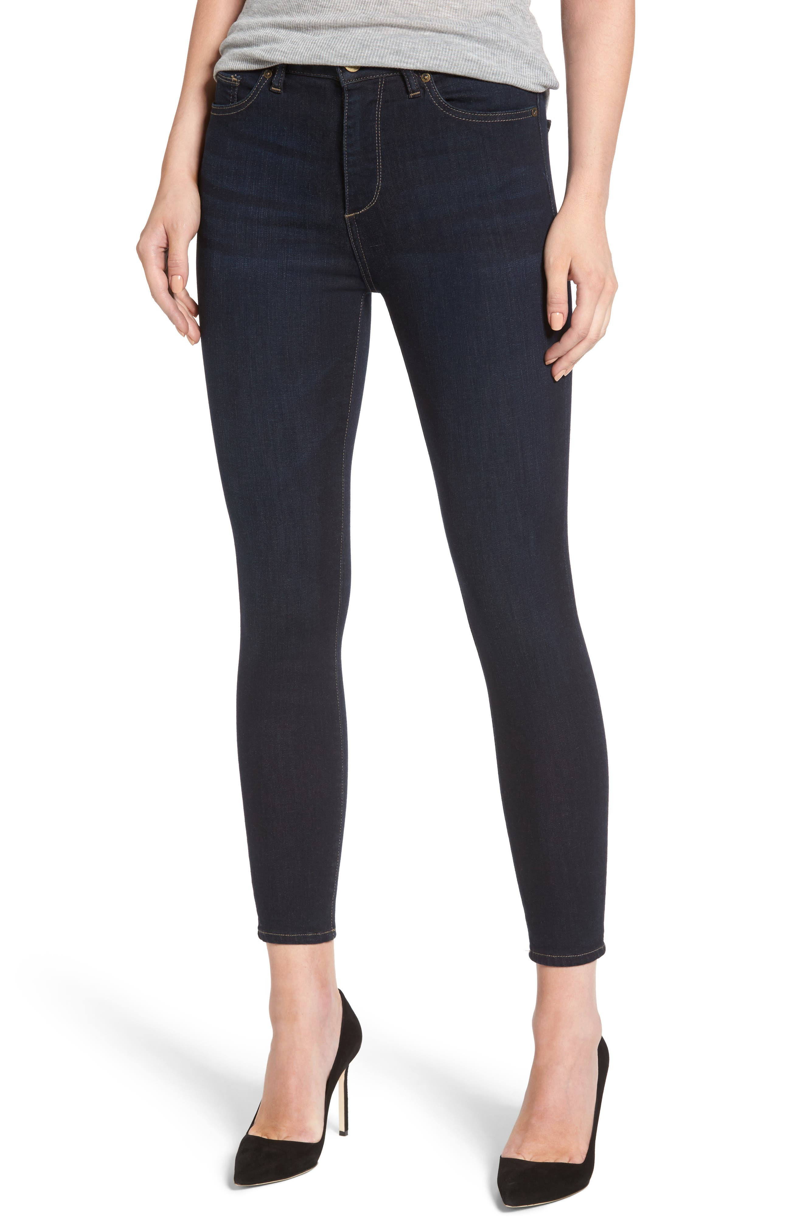 Chrissy High Waist Ankle Skinny Jeans,                         Main,                         color, Alexandra