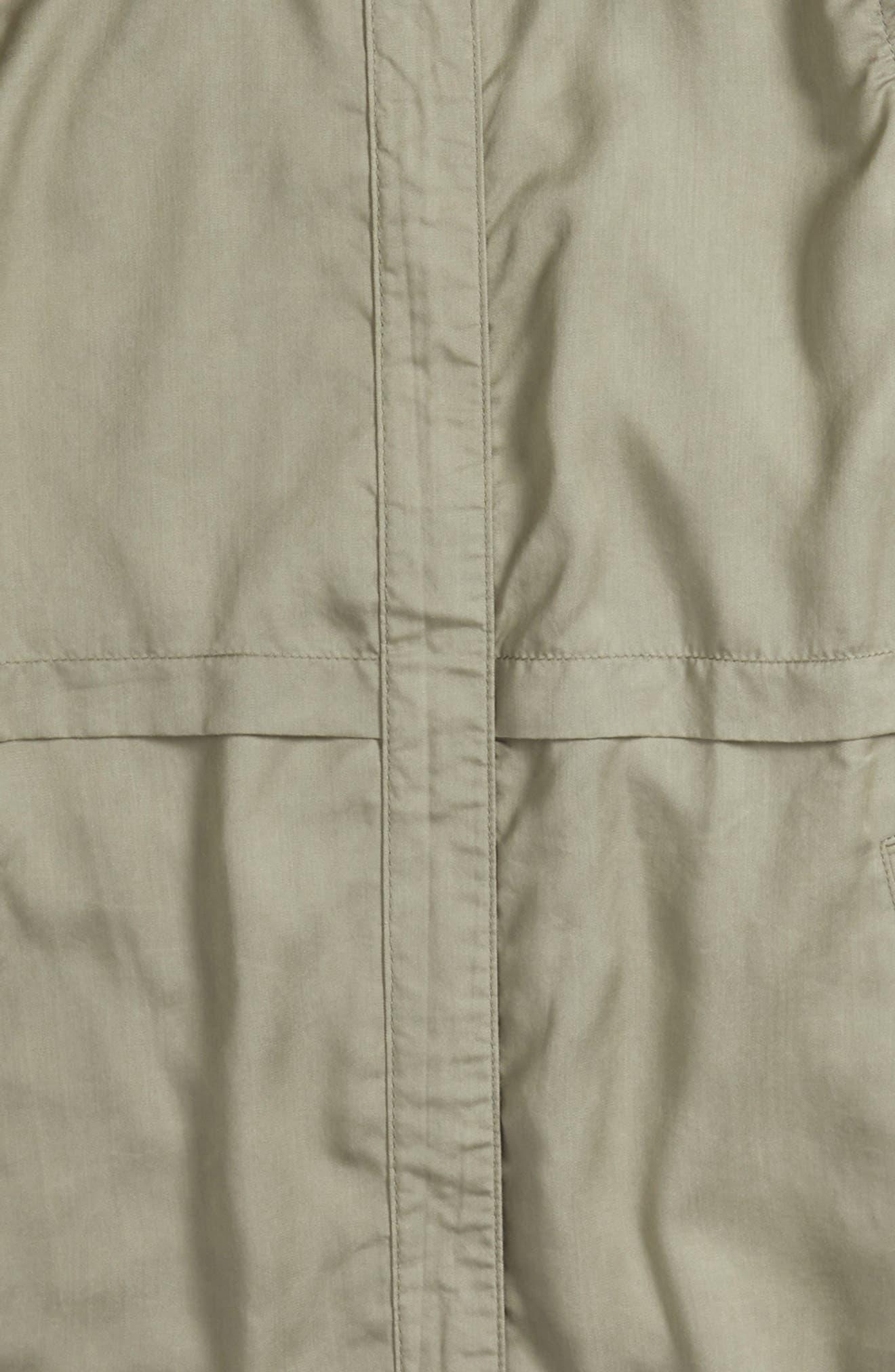 Drapey Hooded Jacket,                             Alternate thumbnail 2, color,                             Green Vetiver