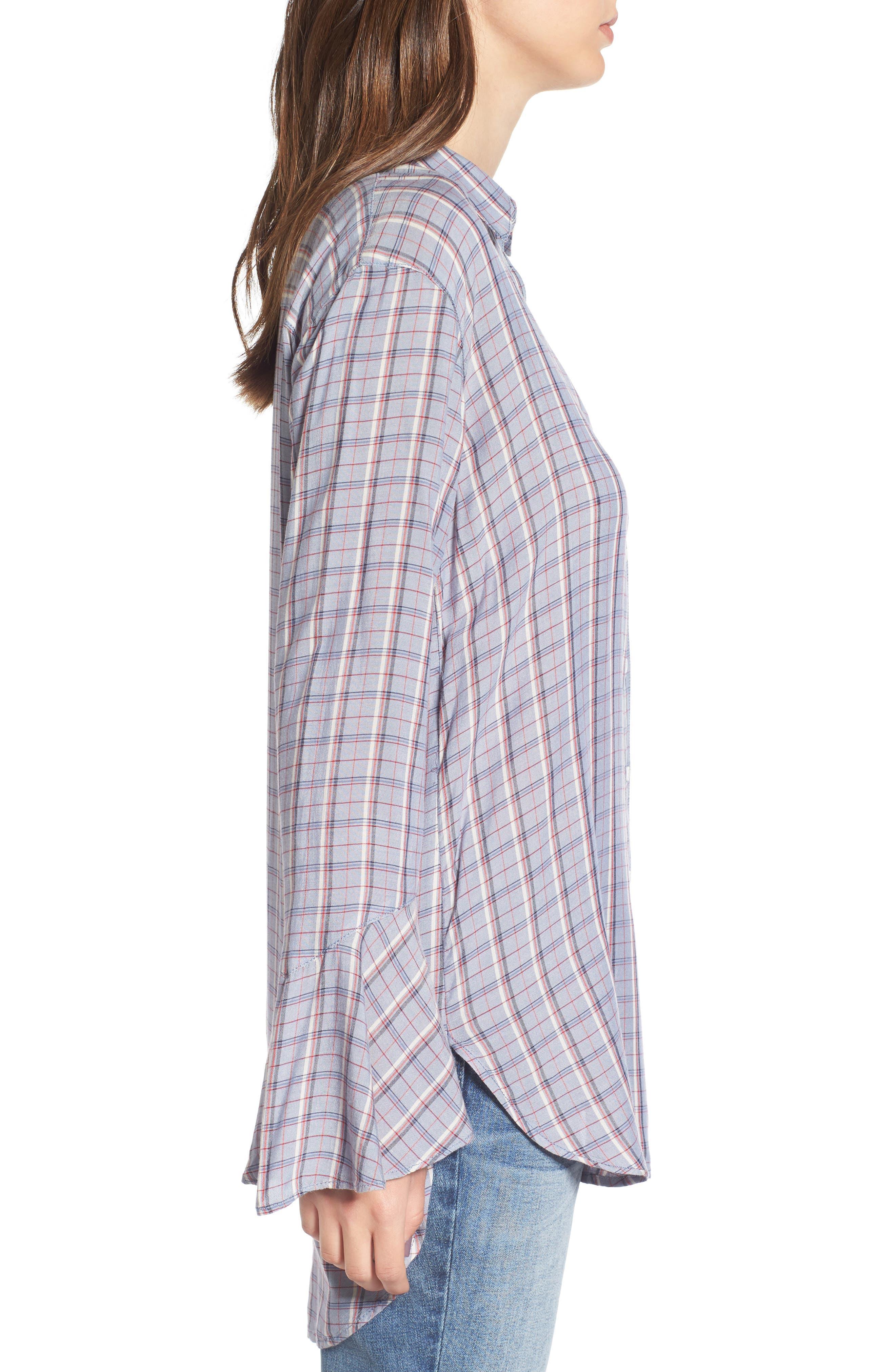 Alternate Image 4  - Treasure & Bond Plaid Drapey Shirt