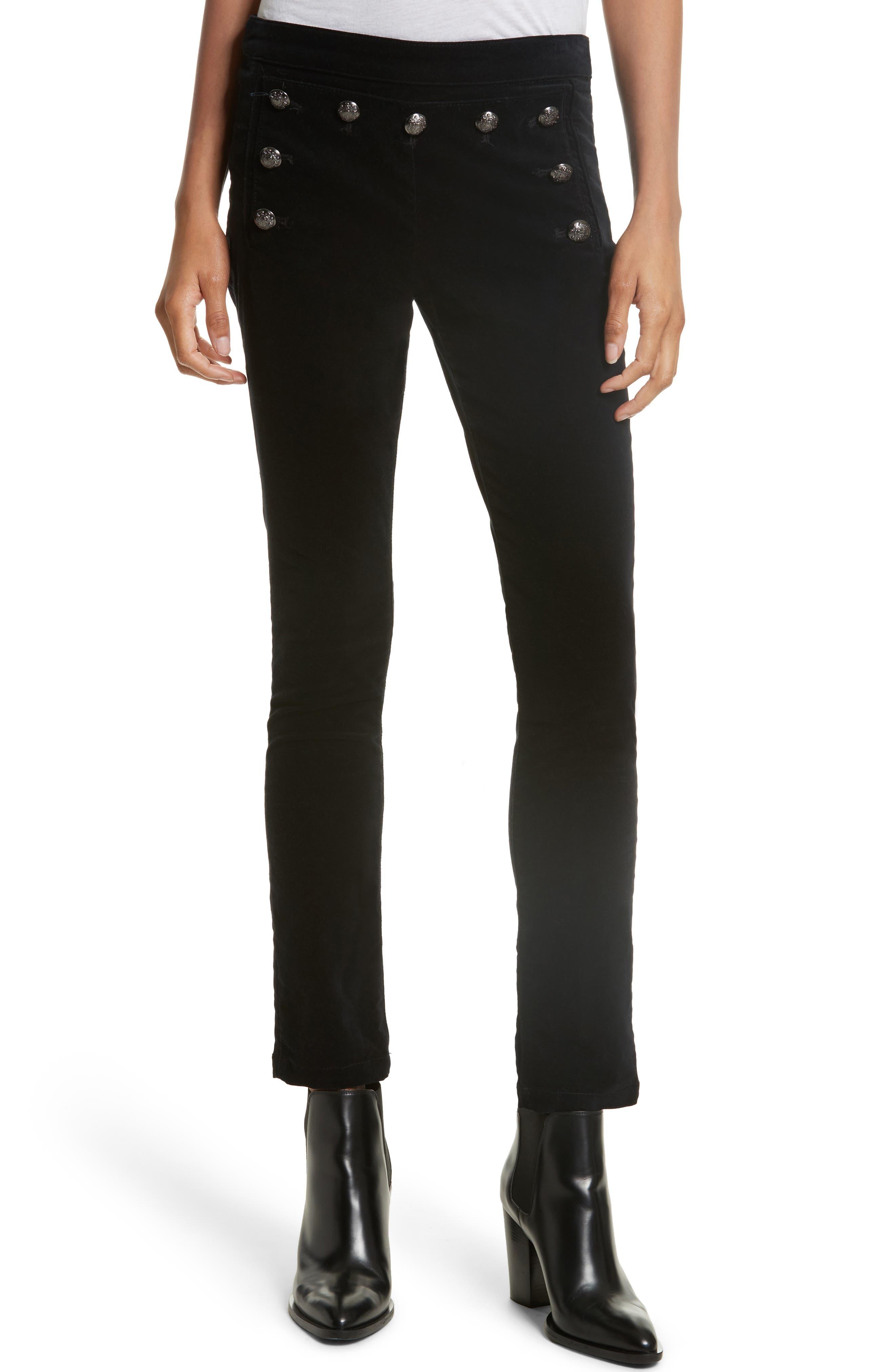 Alternate Image 1 Selected - Veronica Beard Jane Velvet Jeans