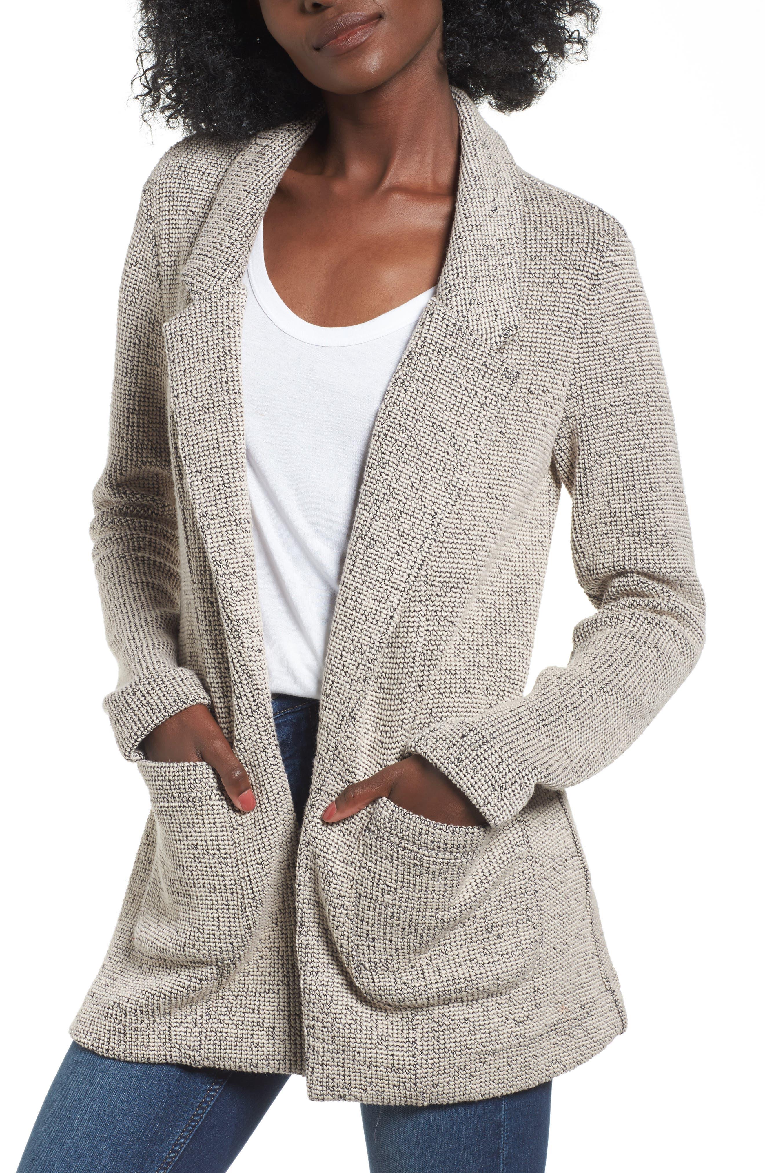 Alternate Image 1 Selected - ASTR the Label Tweed Blazer