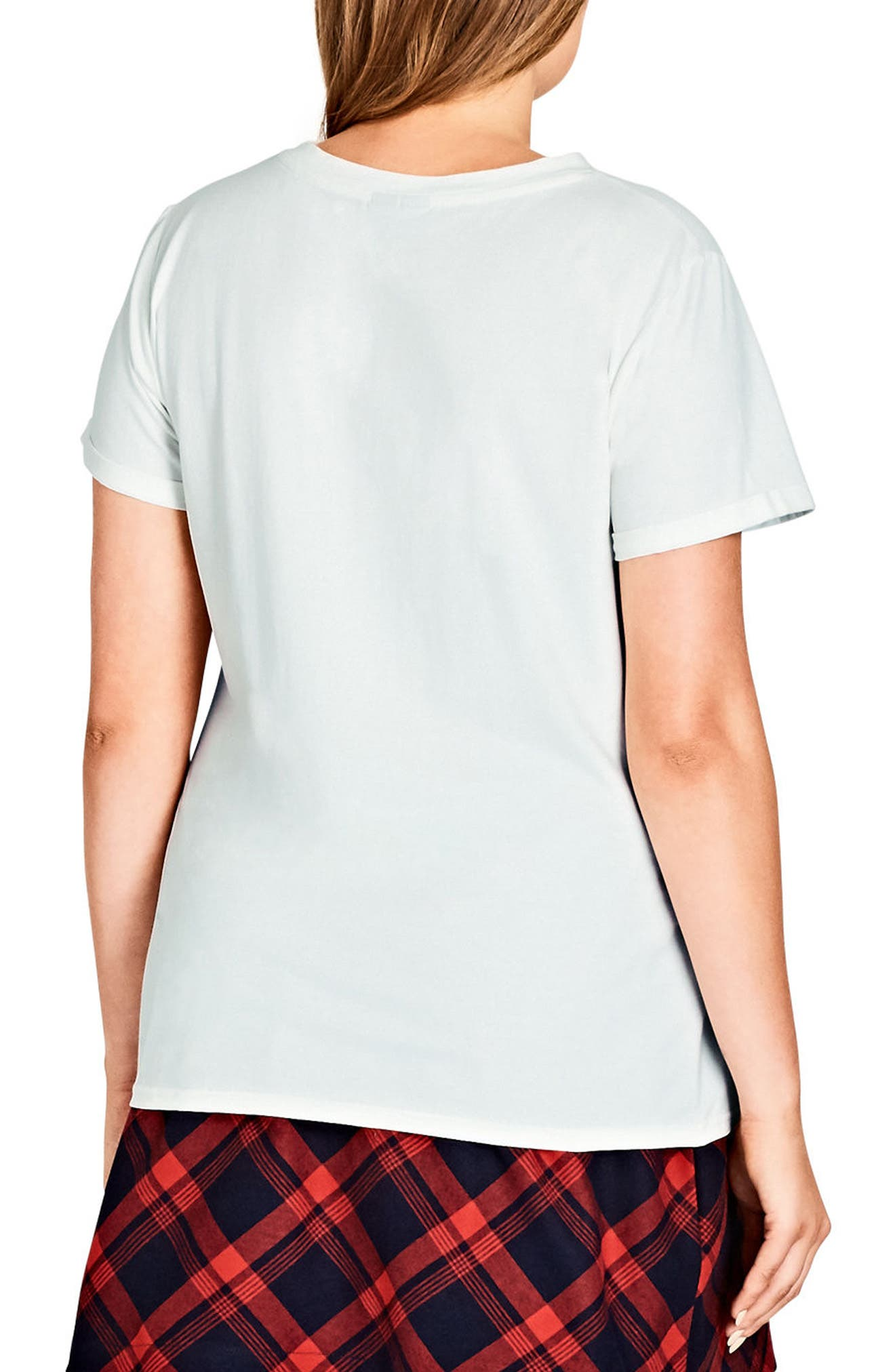 Alternate Image 2  - City Chic Clouds Tee (Plus Size)