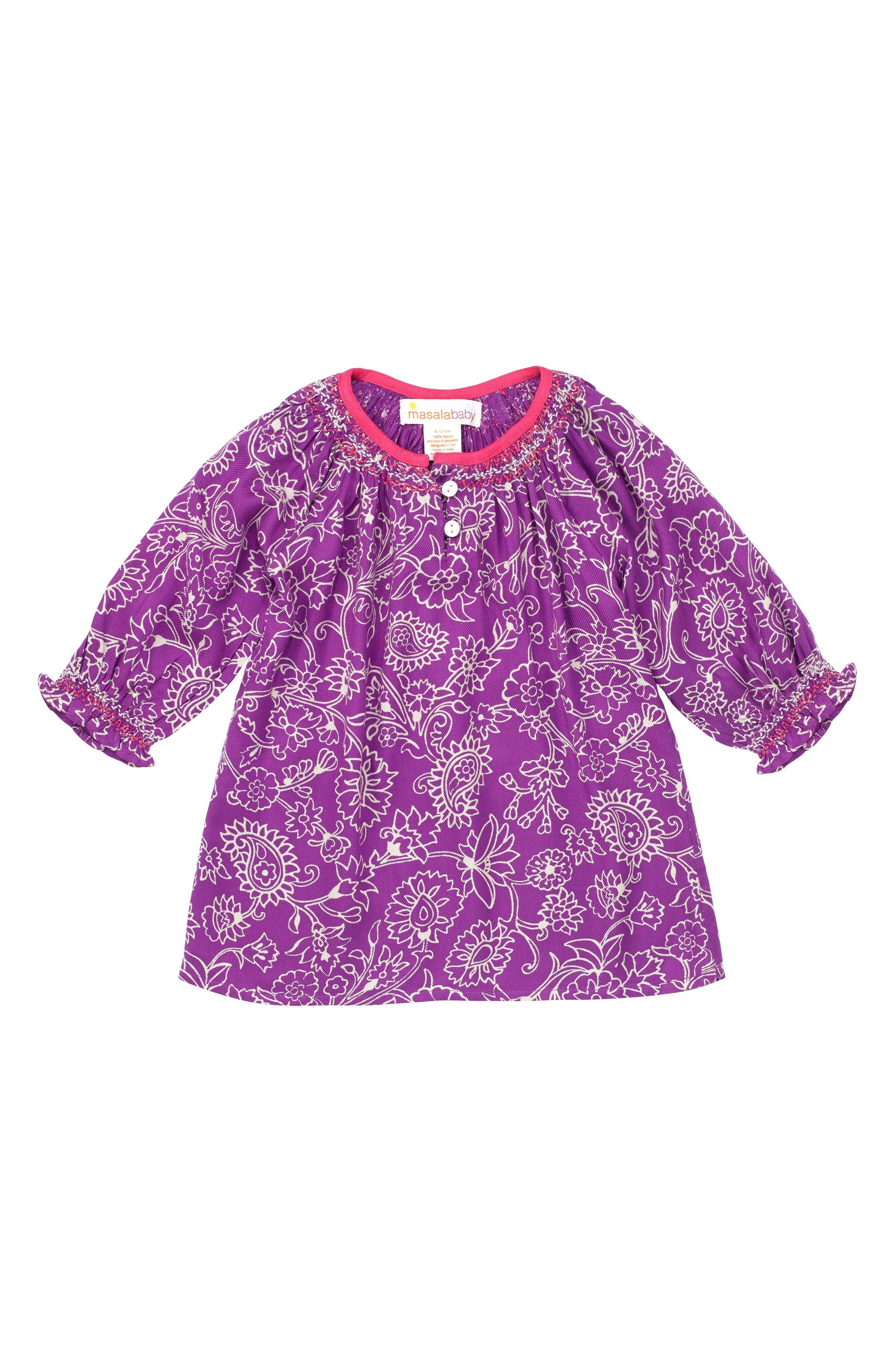 Main Image - Masala Baby Ada Floral Dress (Baby Girls)