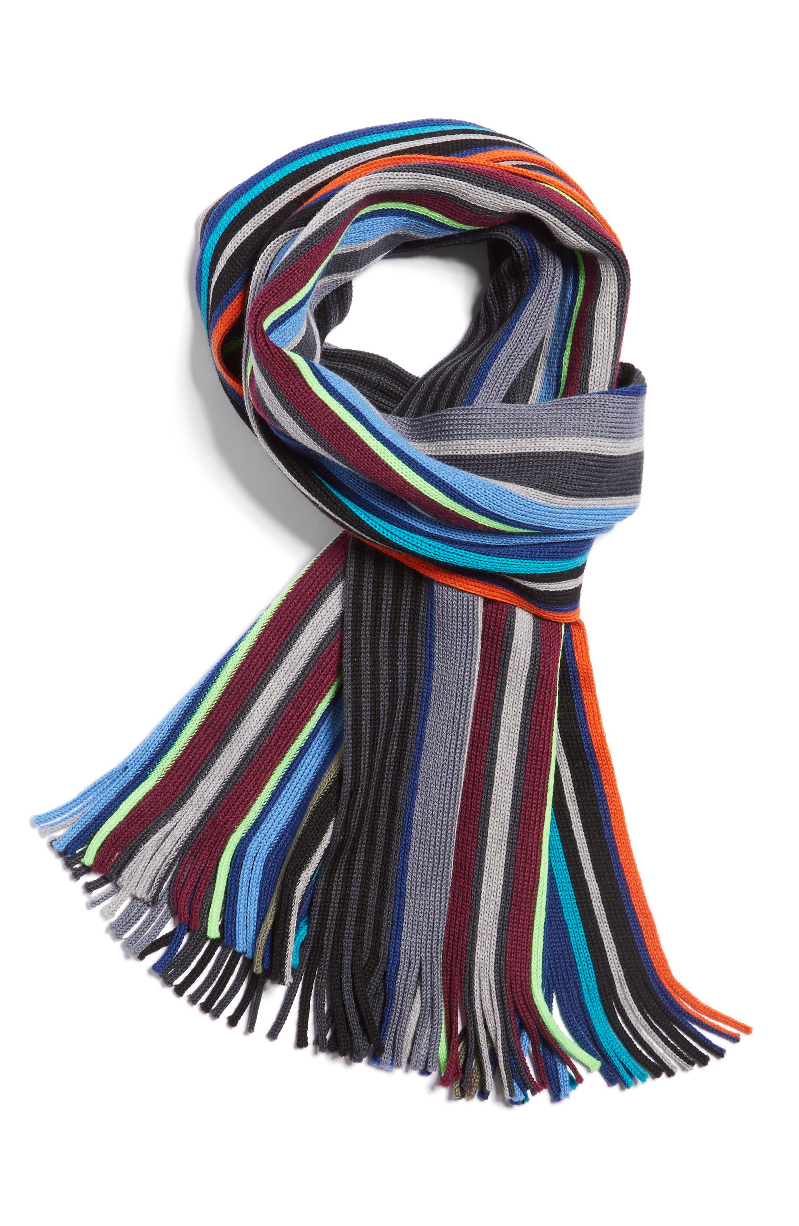 Alternate Image 1 Selected - Paul Smith Stripe Wool Scarf