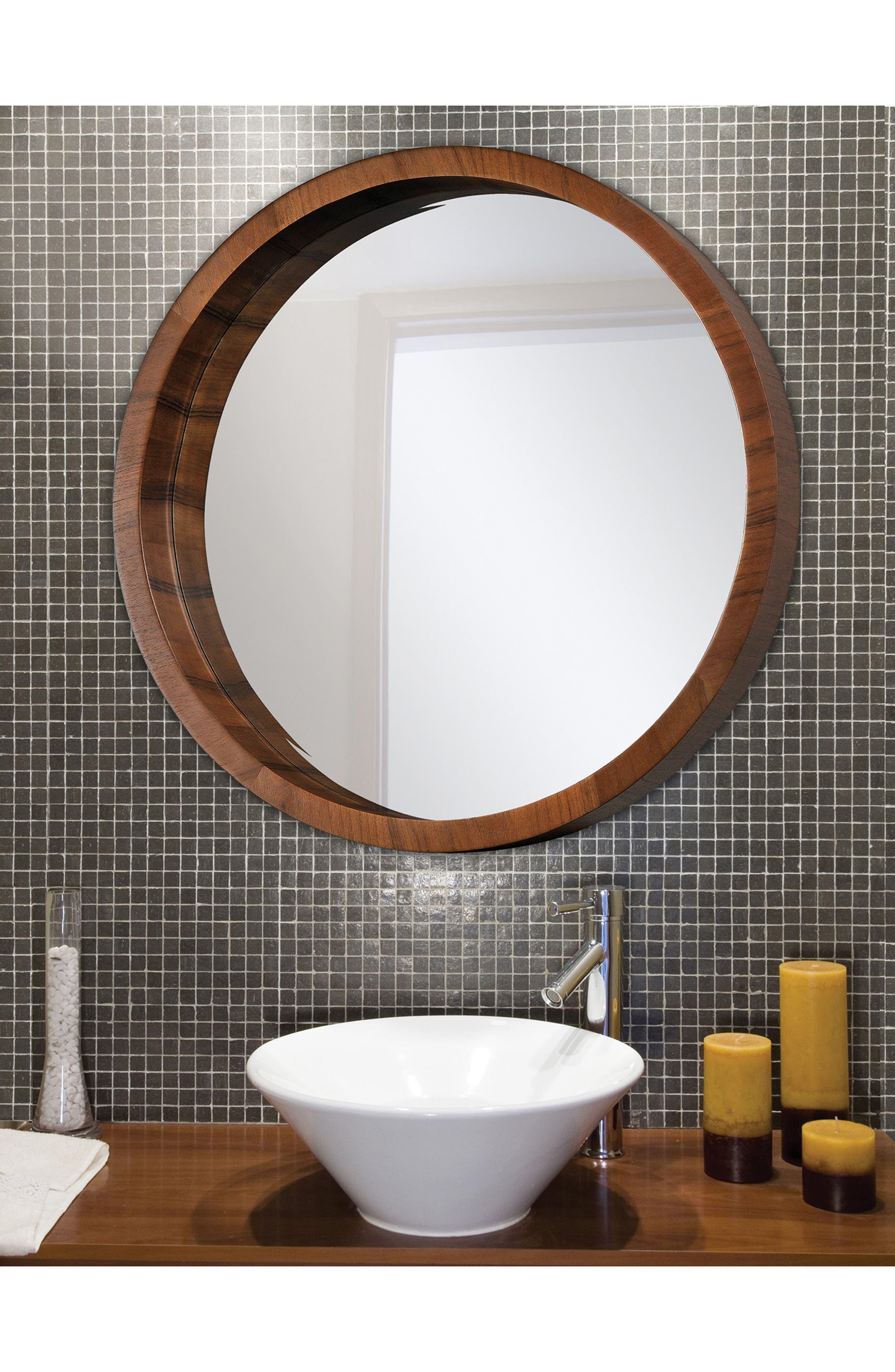 Brynjar Mirror,                             Alternate thumbnail 2, color,                             Walnut Veneer