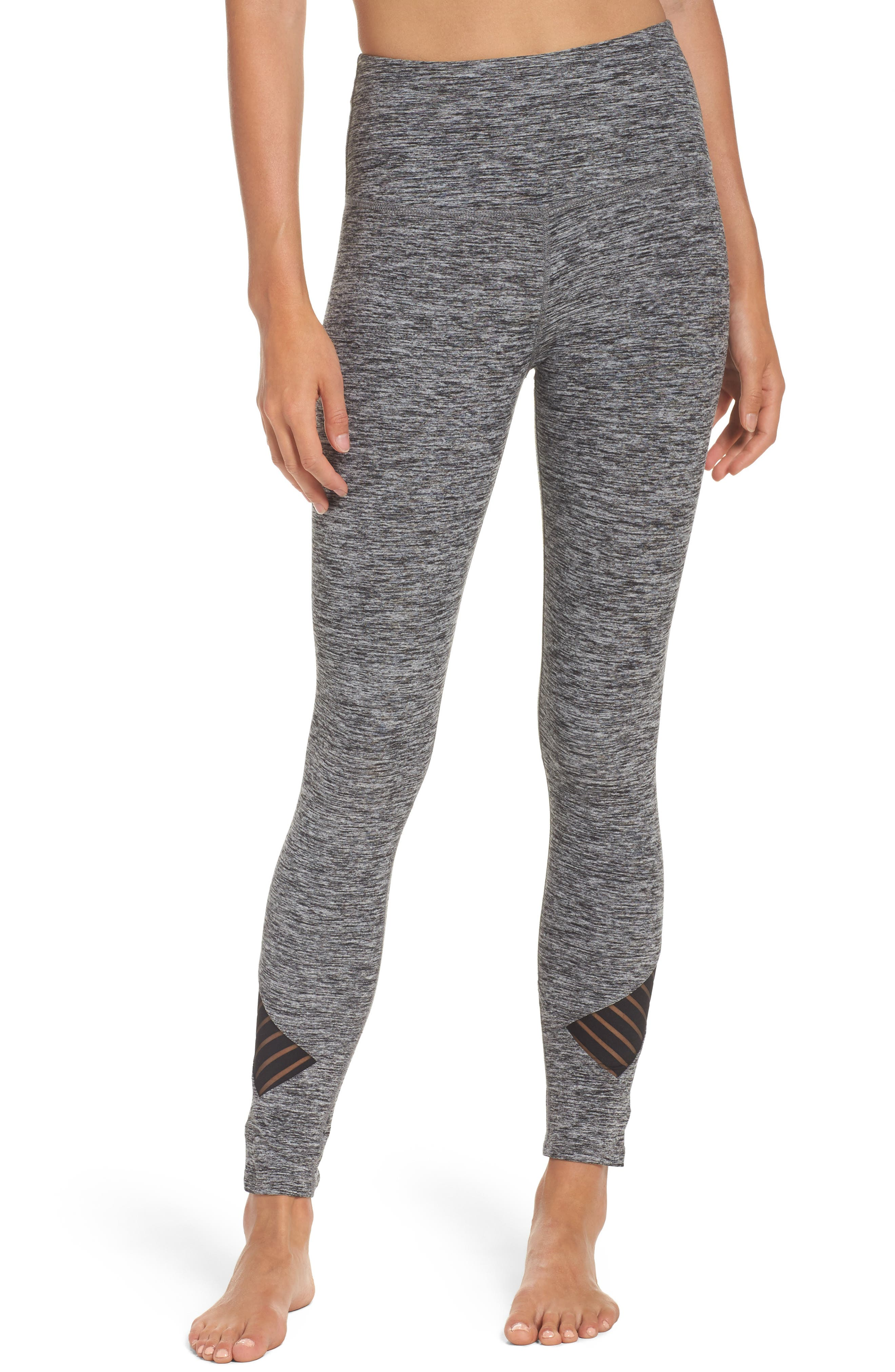 Alternate Image 1 Selected - Beyond Yoga Stacked & Sliced High Waist Leggings