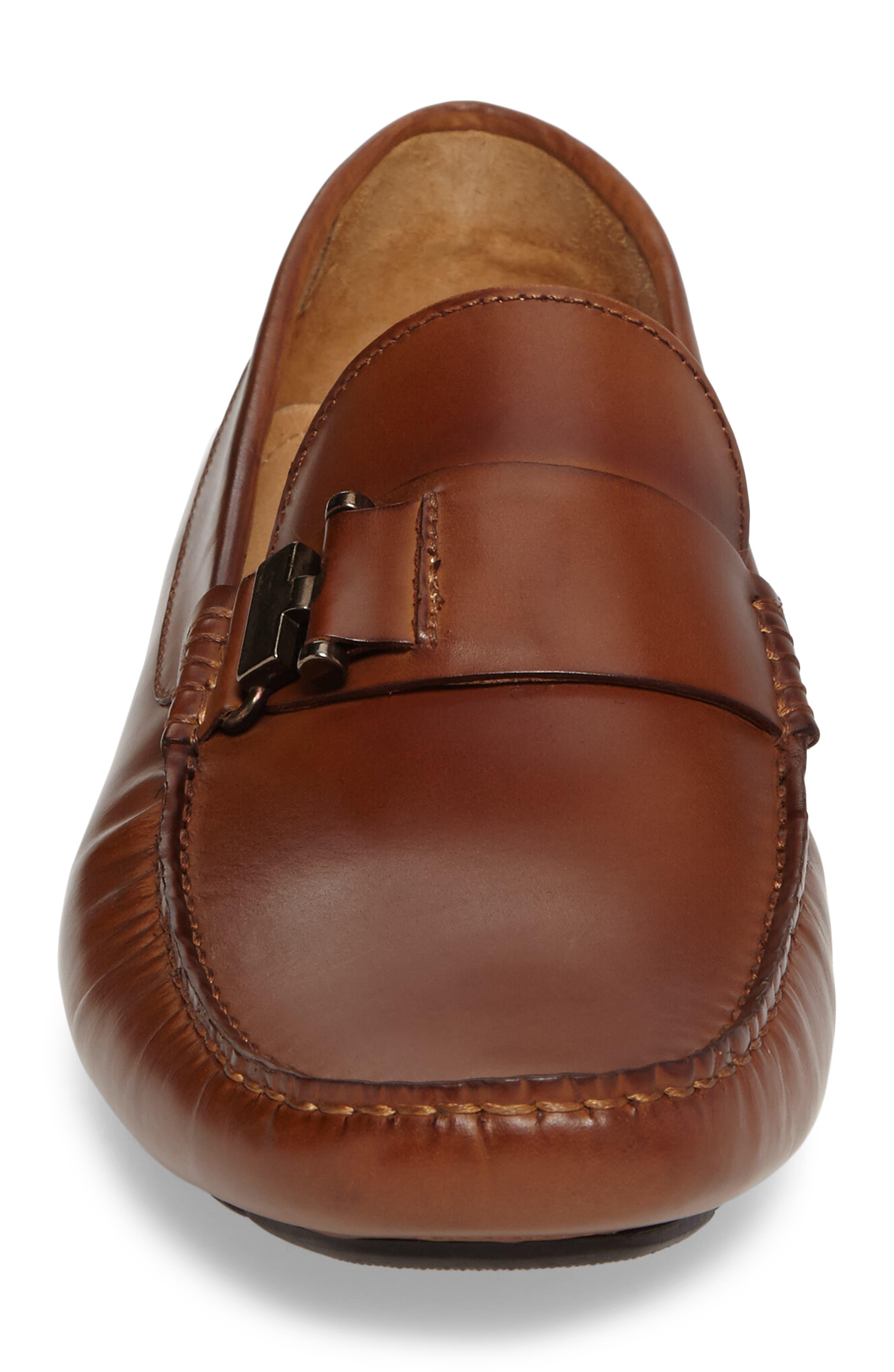 'In Theme' Driving Shoe,                             Alternate thumbnail 4, color,                             Cognac Leather