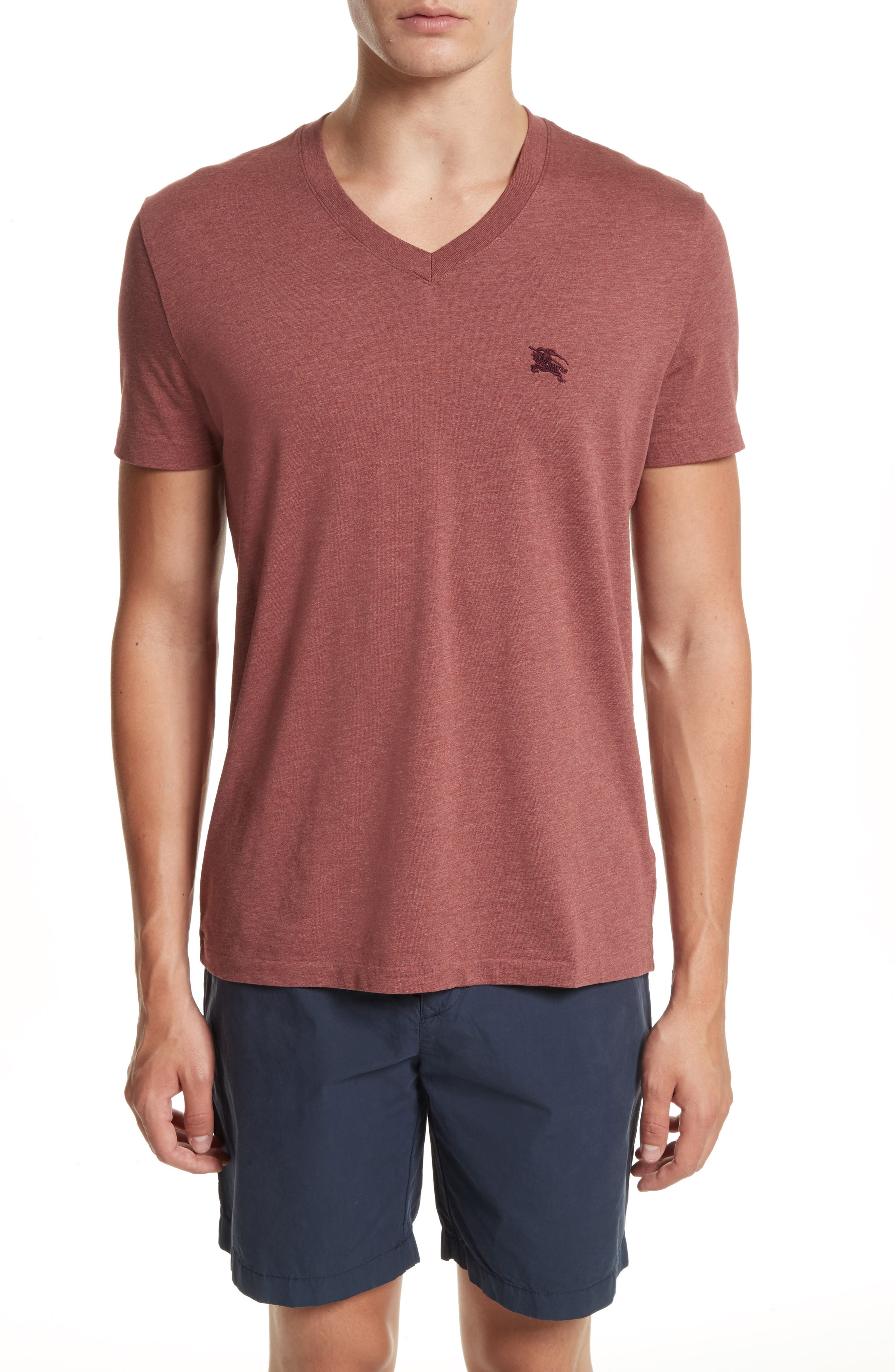 Lindon Cotton T-Shirt,                             Main thumbnail 1, color,                             Russet Melange