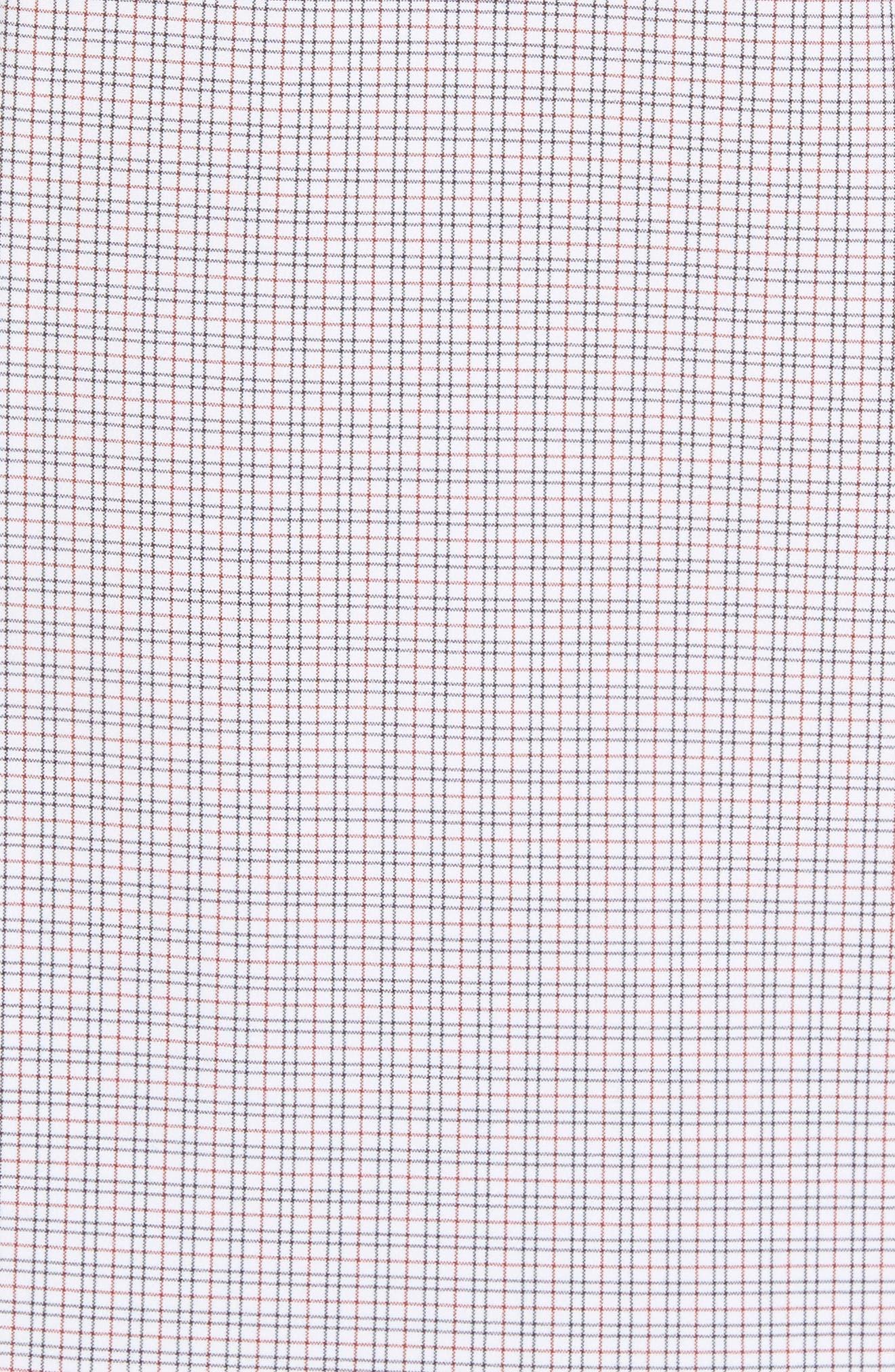 Reed Granite & Burgundy Check Sport Shirt,                             Alternate thumbnail 5, color,                             Red