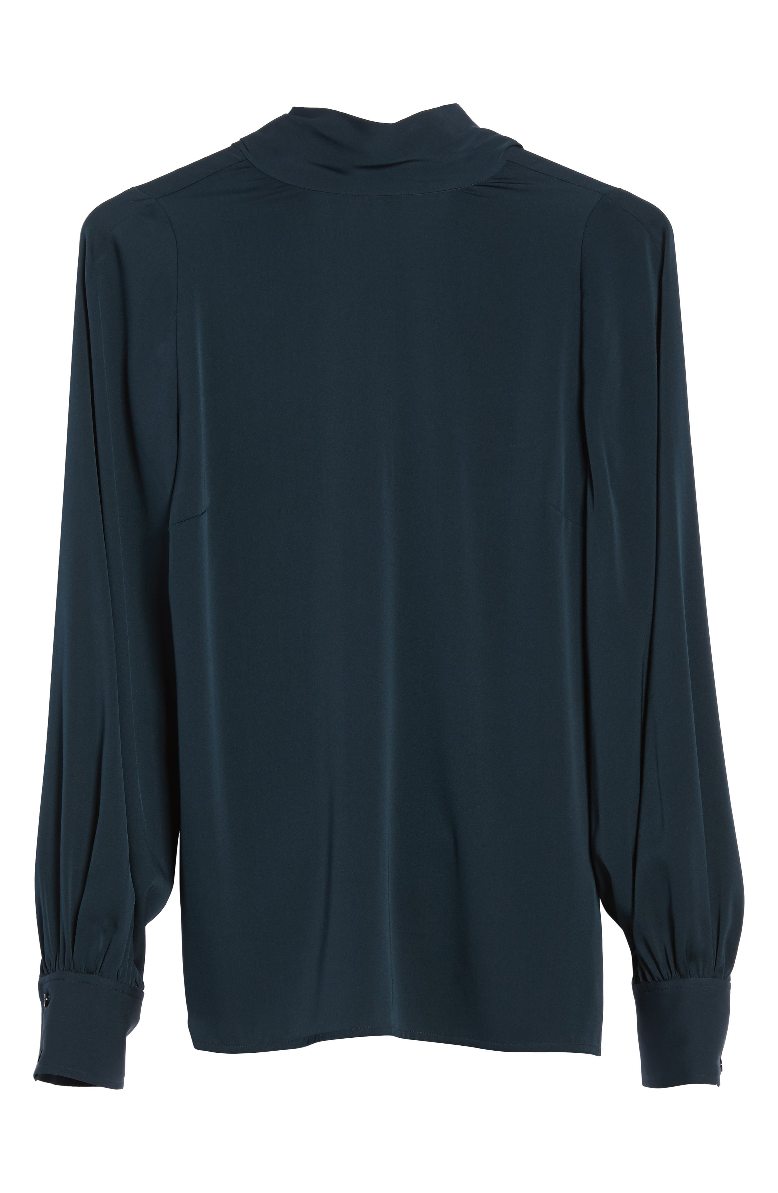 Alternate Image 6  - Lewit Tie Back Stretch Silk Blouse