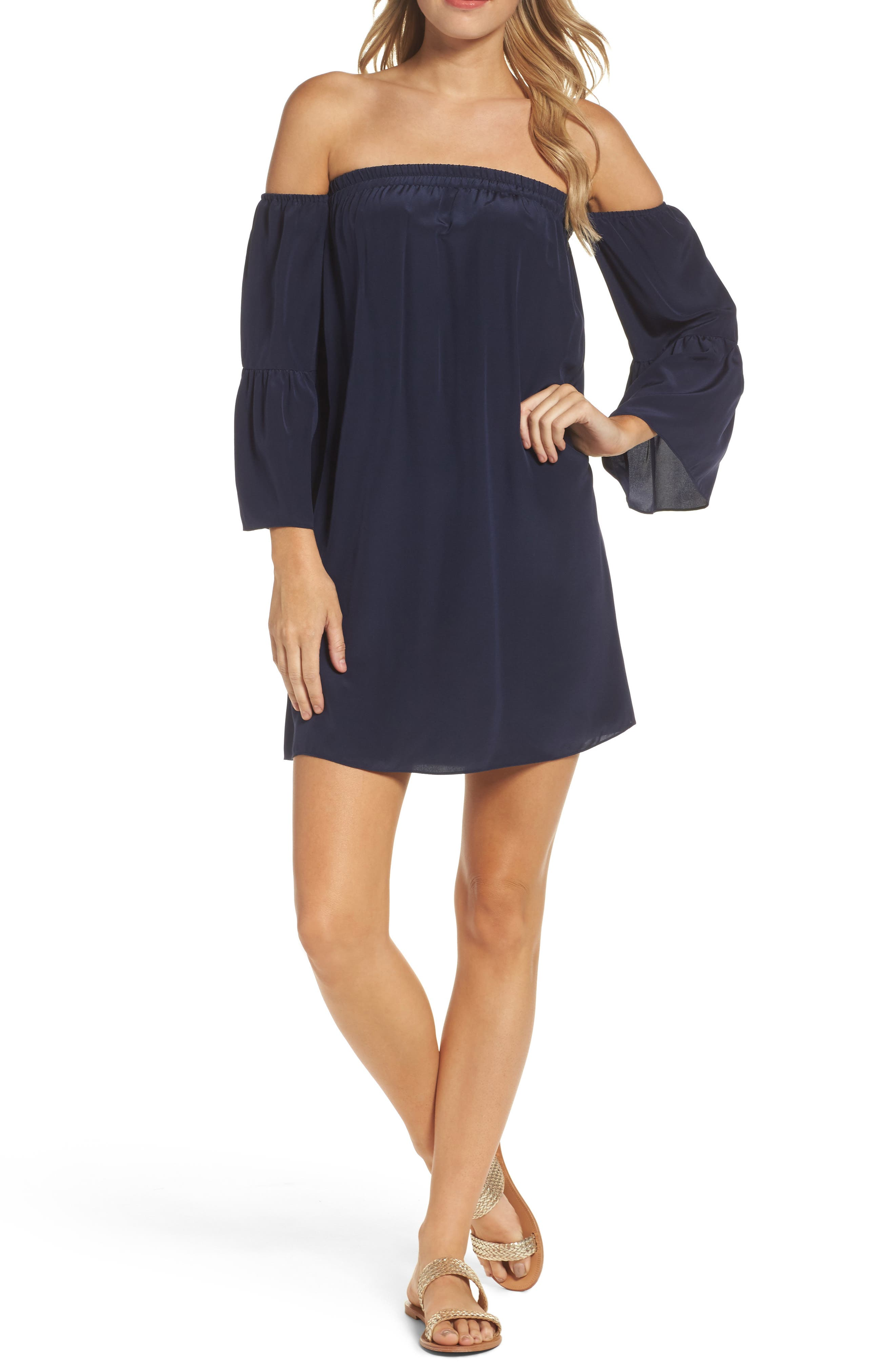 LILLY PULITZER<SUP>®</SUP> Sanilla Silk Off the Shoulder Dress