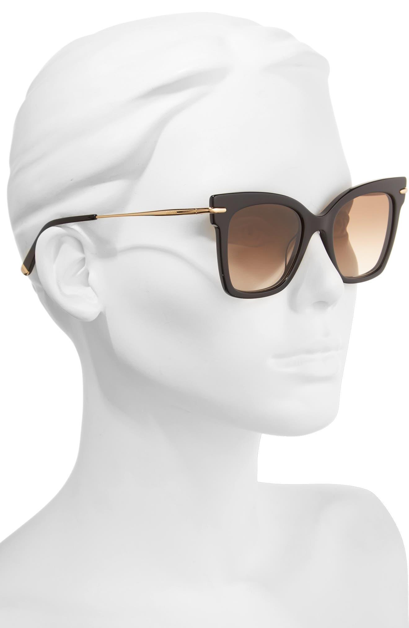 Alternate Image 2  - Max Mara Needliv 49mm Gradient Cat Eye Sunglasses