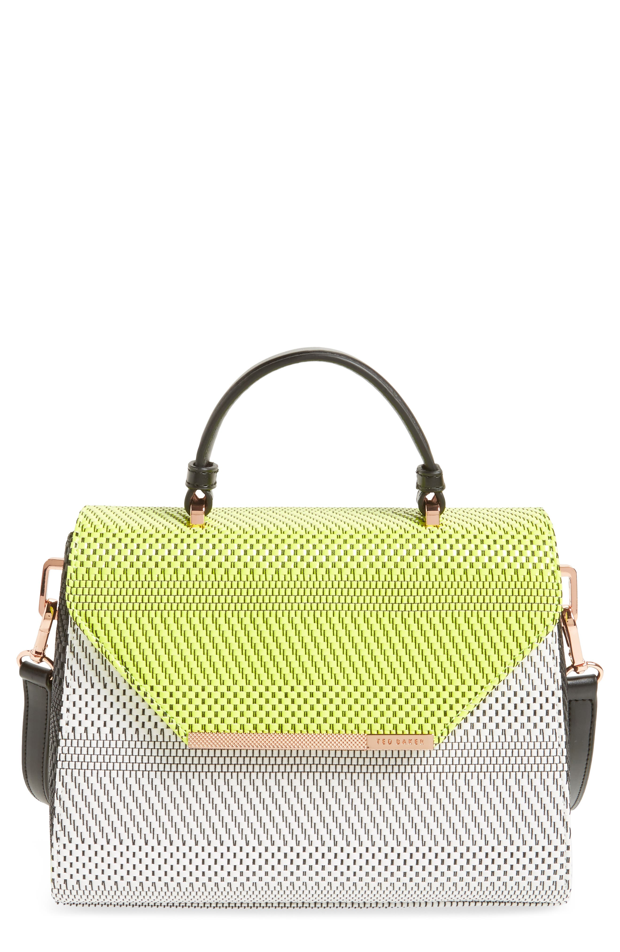 Main Image - Ted Baker London Woven Straw Top Handle Satchel