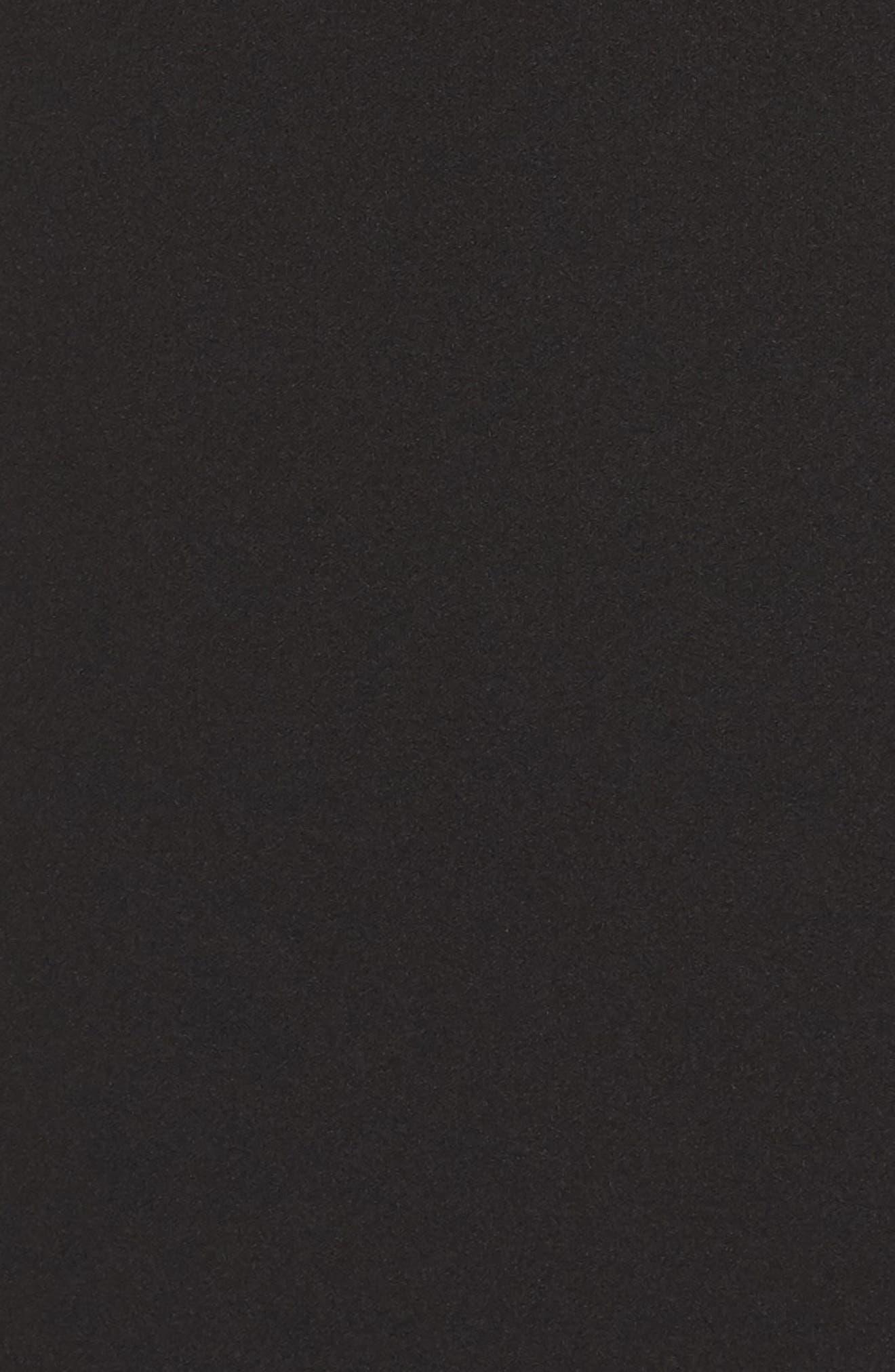 Lace Flounce Dress,                             Alternate thumbnail 5, color,                             Black