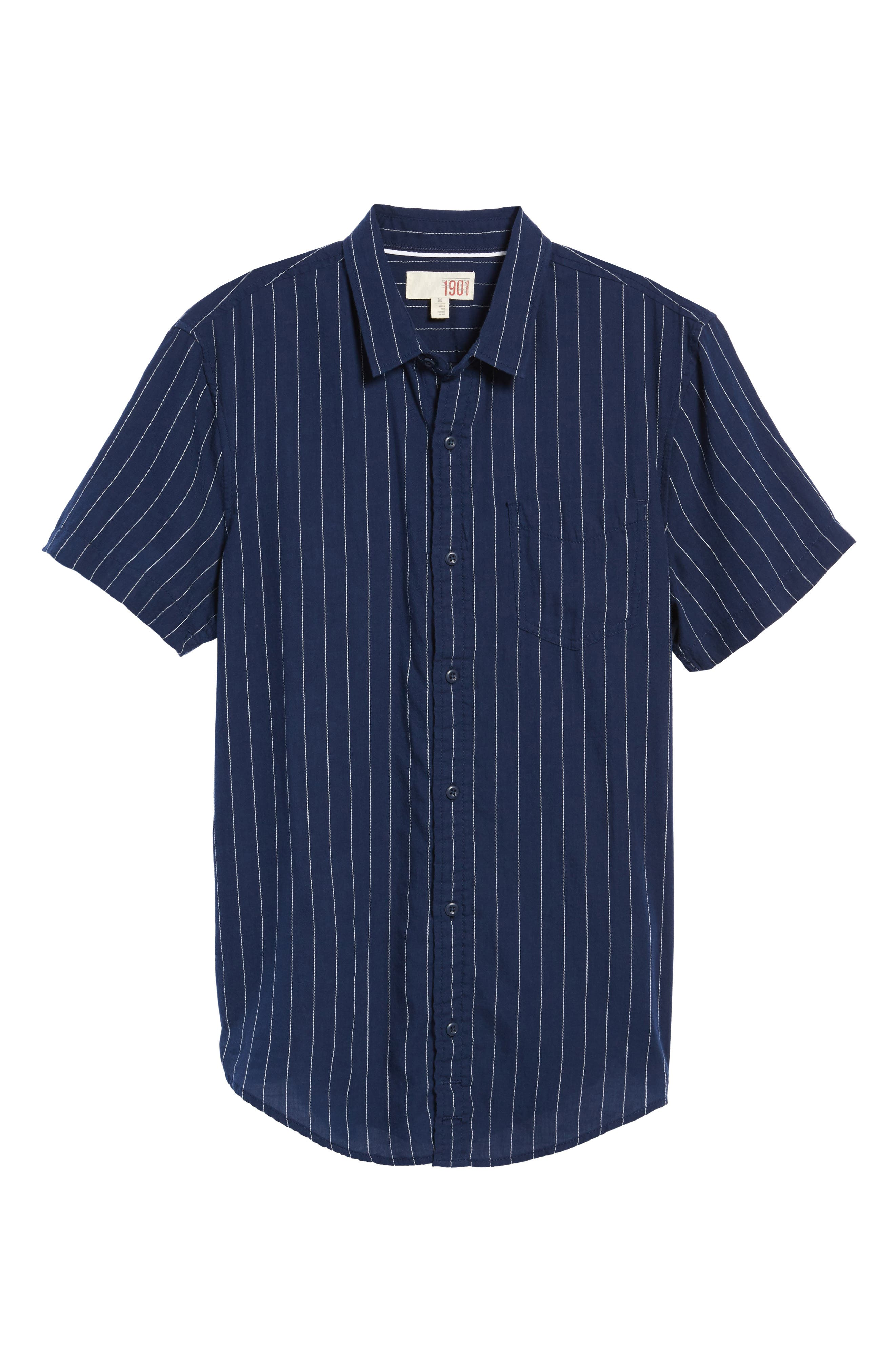 Alternate Image 5  - 1901 Stripe Twill Shirt
