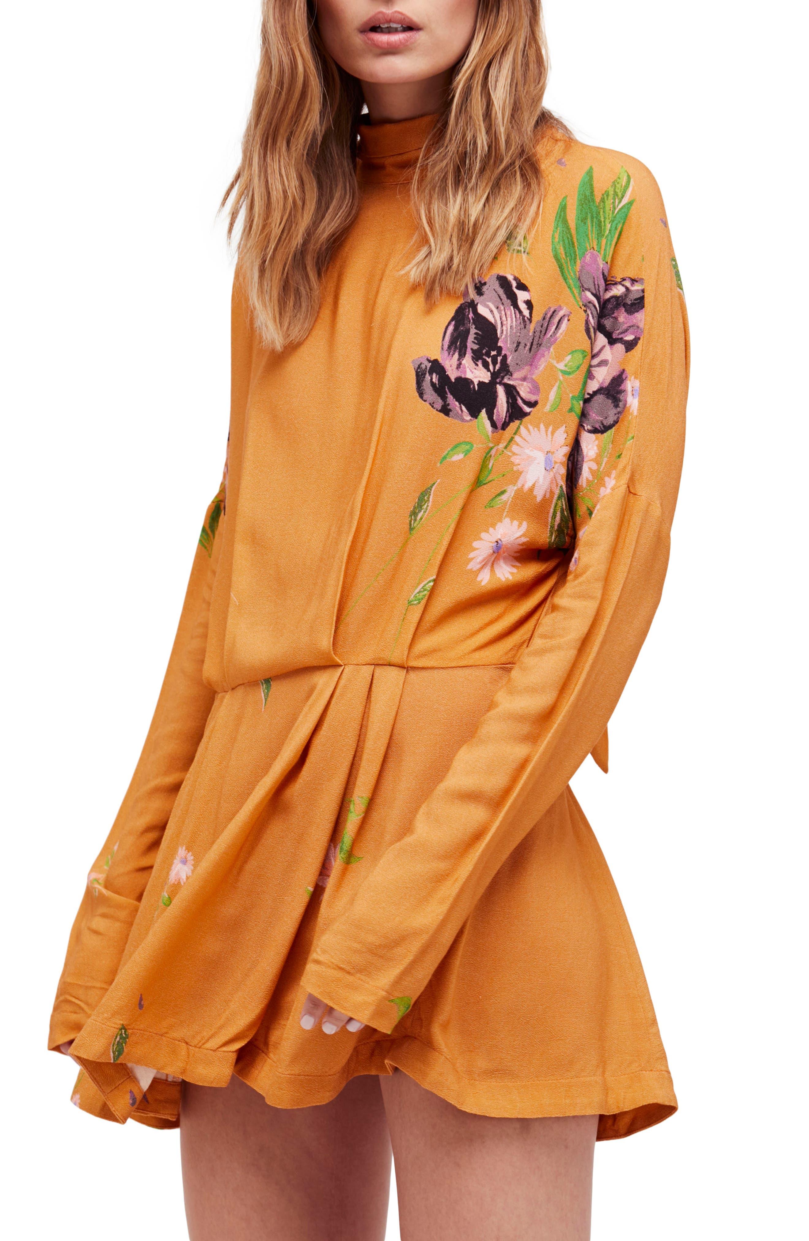 Gemma Minidress,                         Main,                         color, Mustard