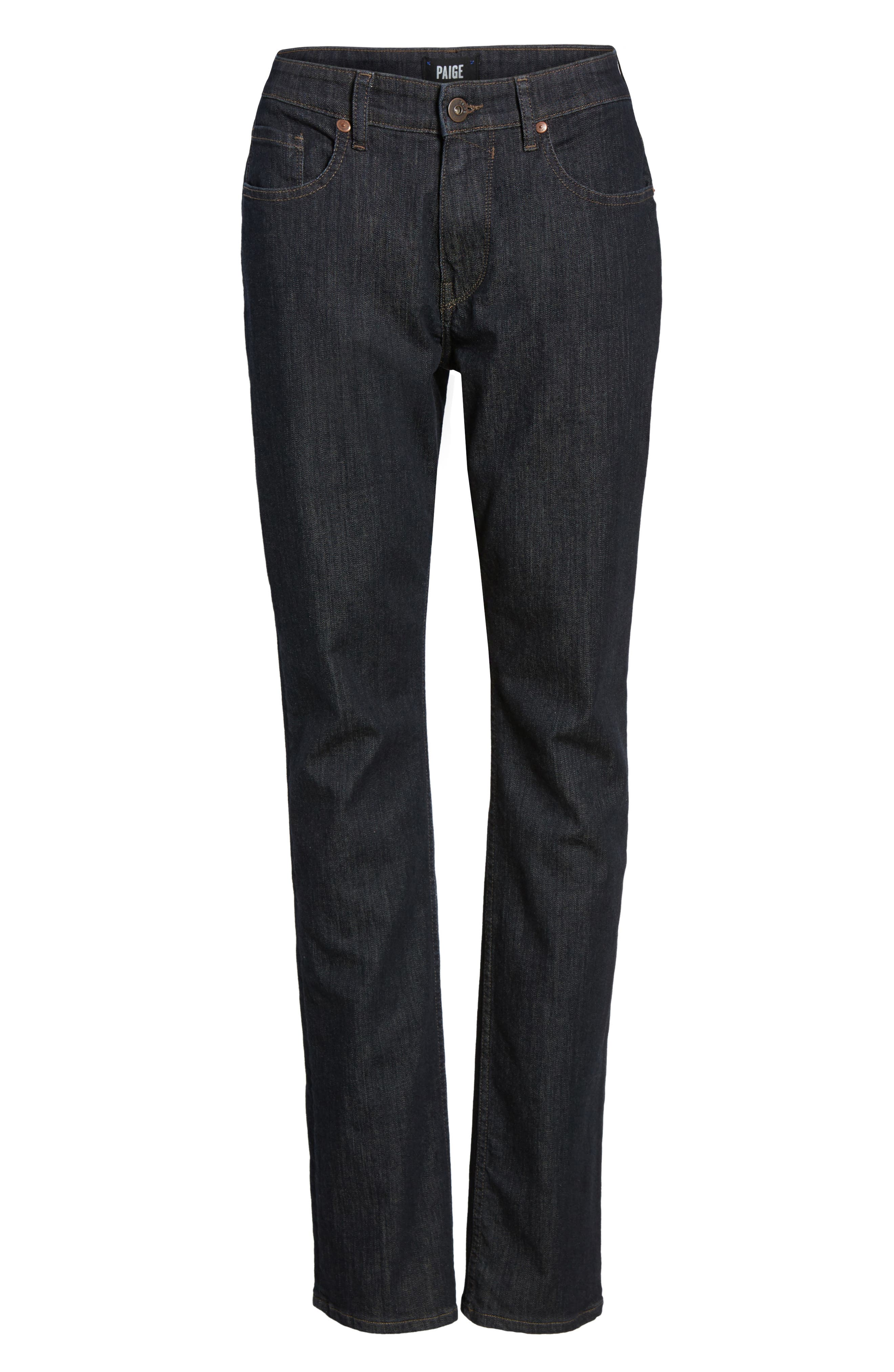 Alternate Image 6  - PAIGE Normandie Straight Leg Jeans (Fillmore)