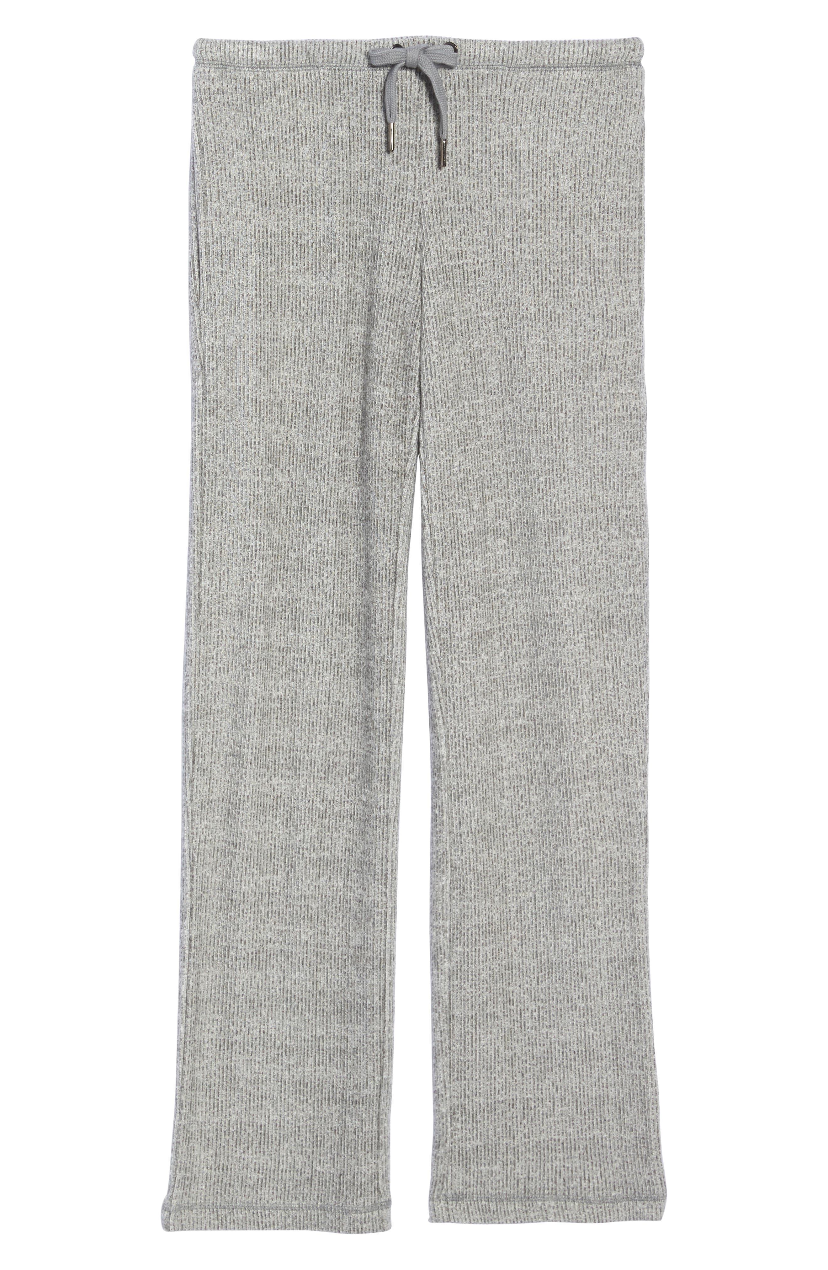 Knit Lounge Pants,                             Alternate thumbnail 4, color,                             Grey