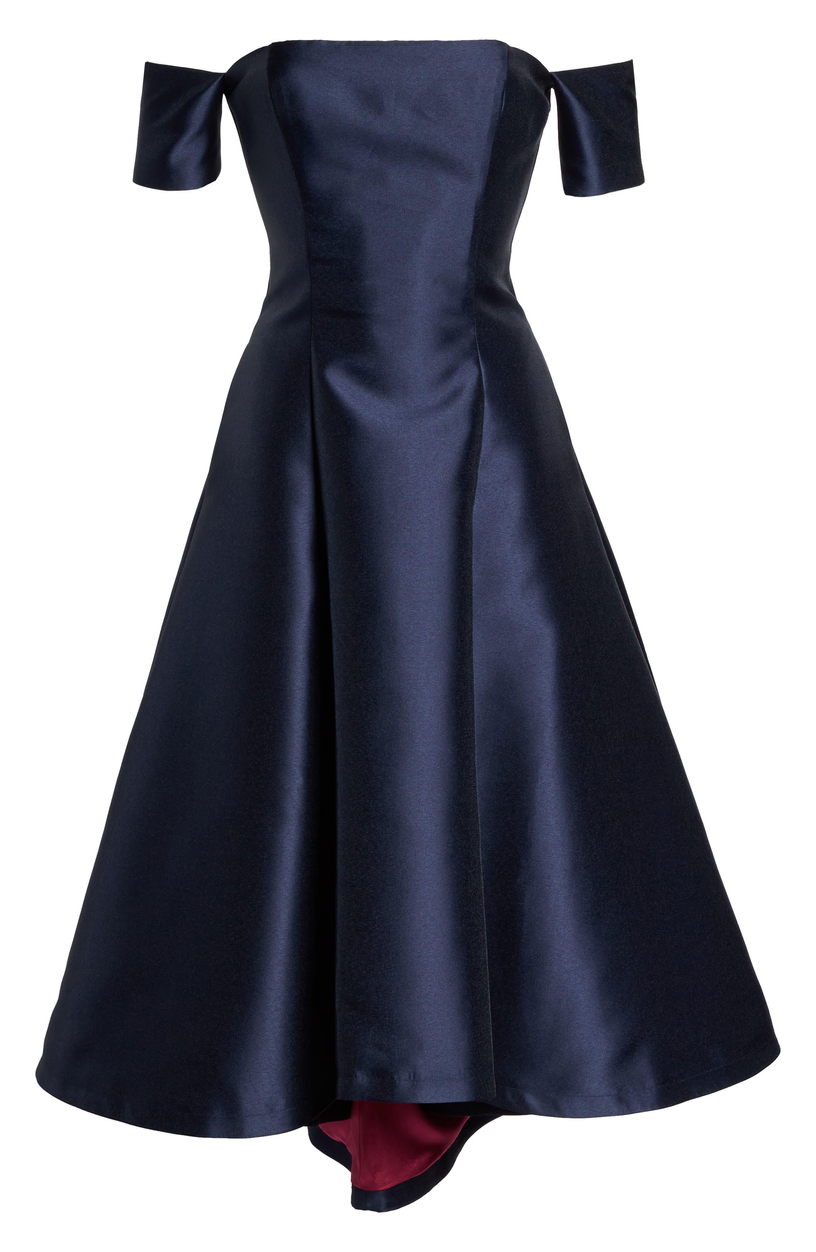 Alternate Image 6  - Eliza J Off the Shoulder High/Low Gown