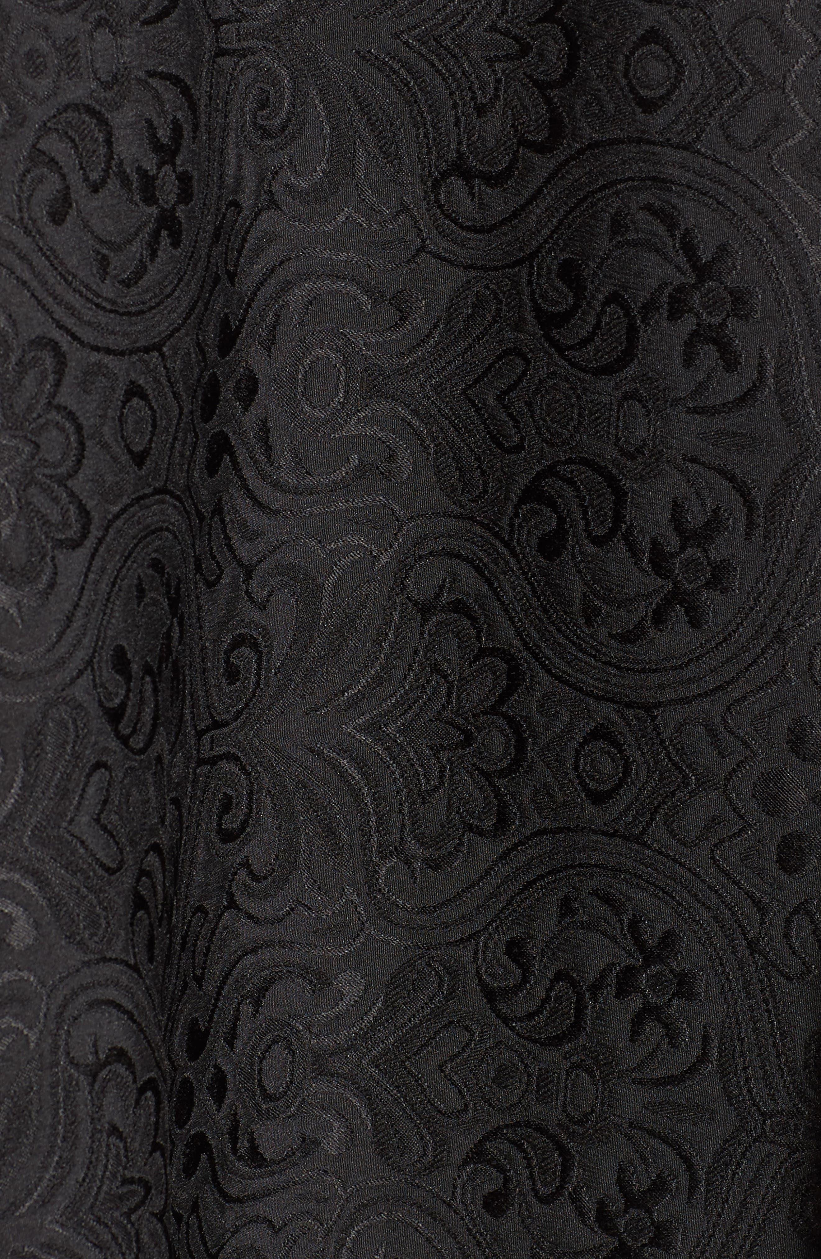 Embellished Cutout Back Cocktail Dress,                             Alternate thumbnail 5, color,                             Black Ivory