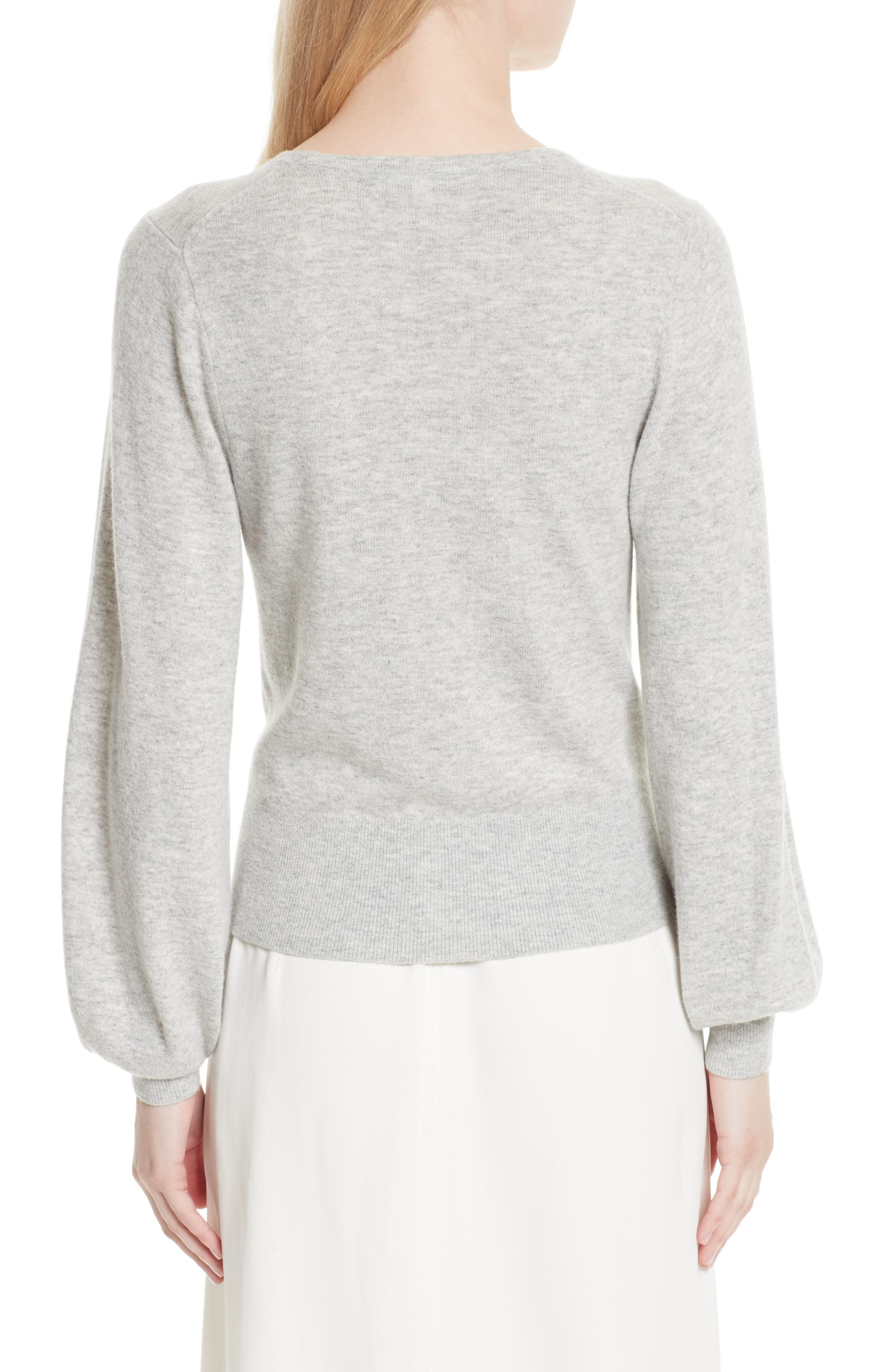 Bretta Sweater,                             Alternate thumbnail 3, color,                             Heather Grey