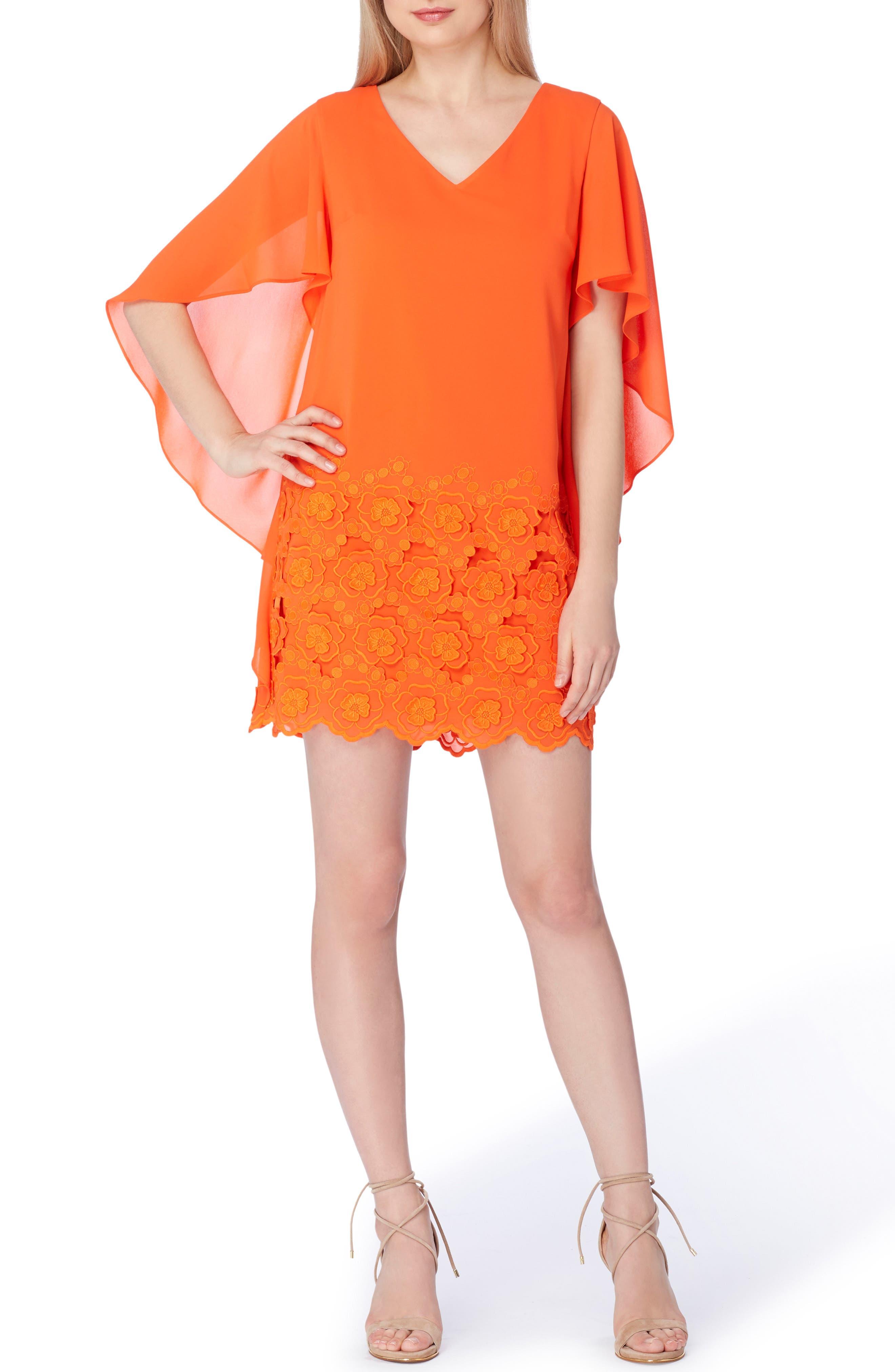 Alternate Image 1 Selected - Tahari Capelet Shift Dress