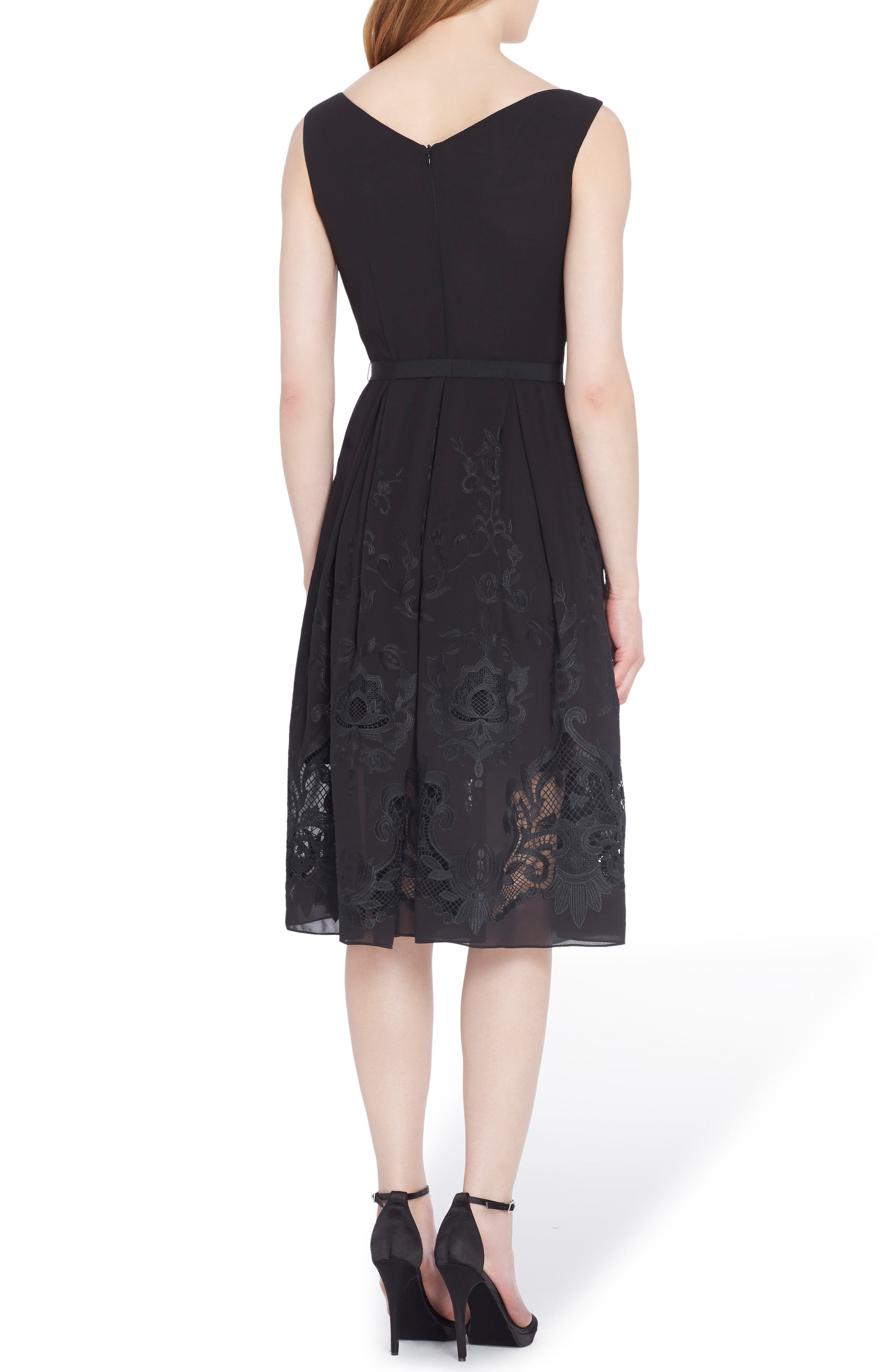 Alternate Image 2  - Tahari Lace Fit & Flare Dress