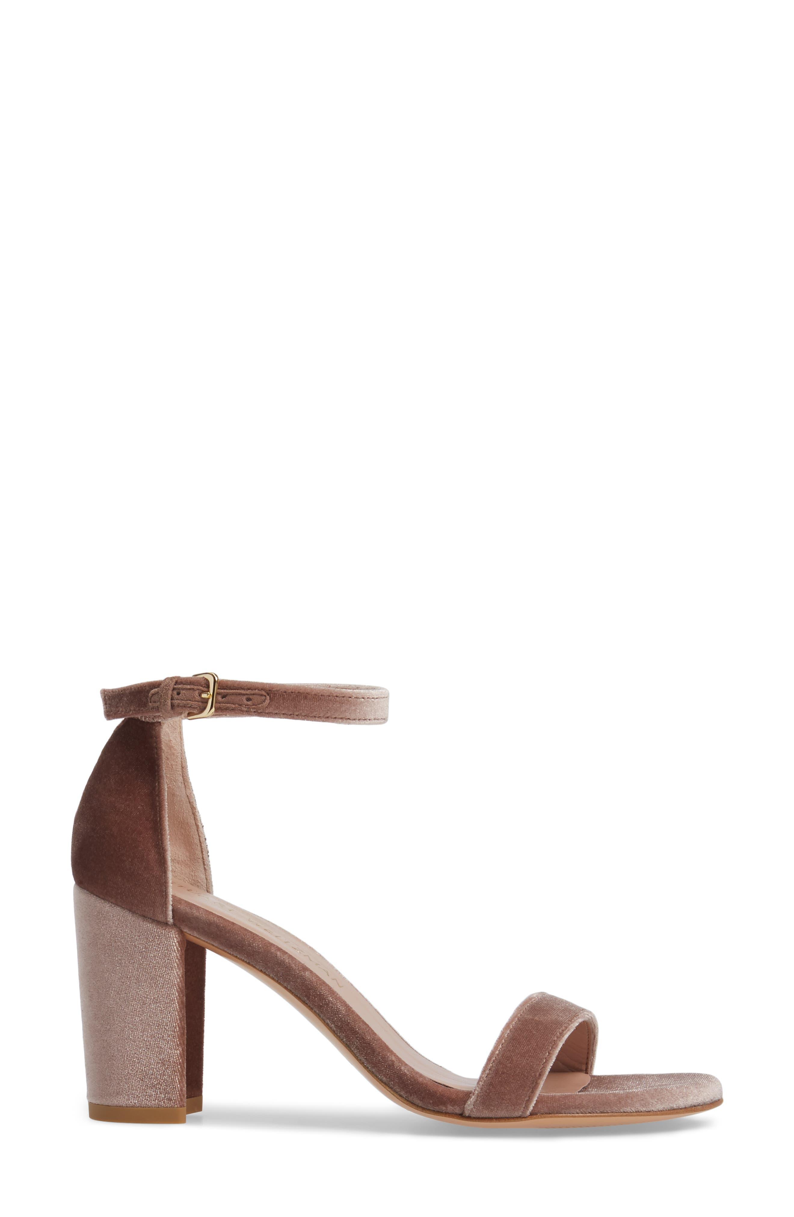 NearlyNude Ankle Strap Sandal,                             Alternate thumbnail 3, color,                             Candy Velvet