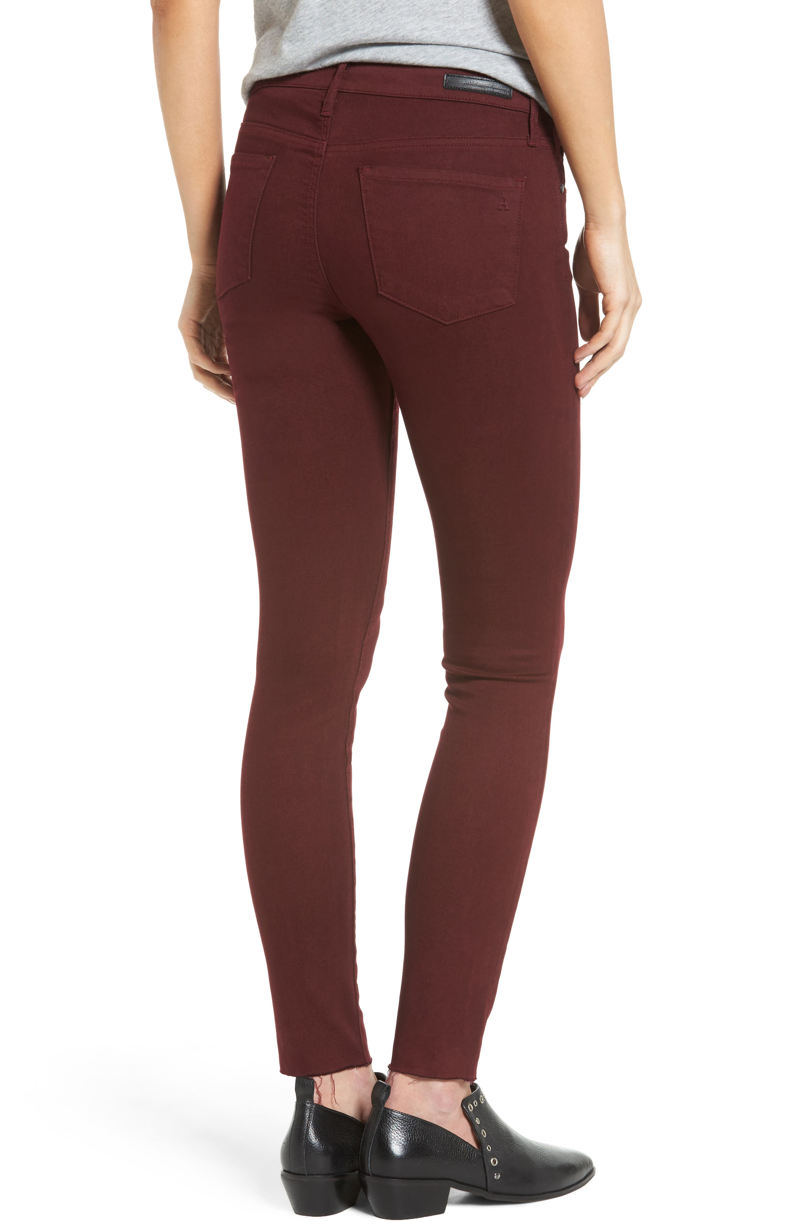 Alternate Image 2  - Articles of Society Sarah Skinny Jeans (Red Eye)