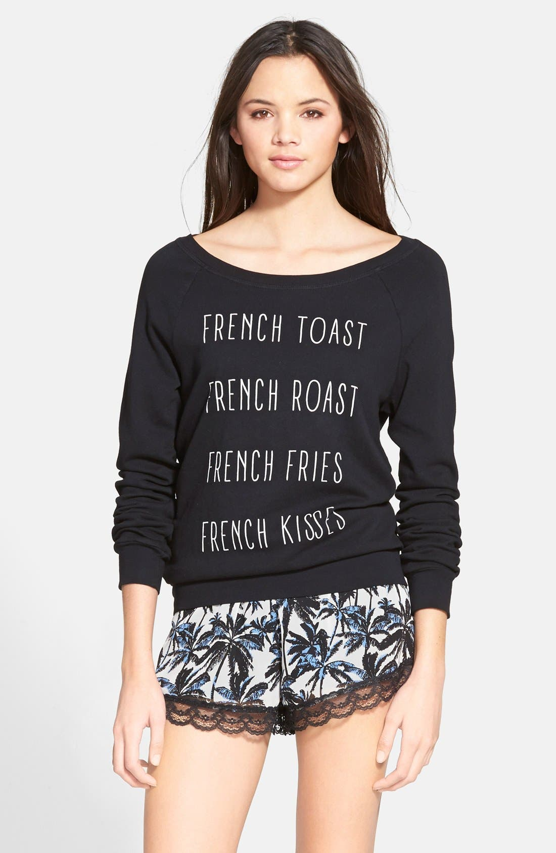 Alternate Image 1 Selected - Project Social T 'French Kiss' Graphic Sweatshirt