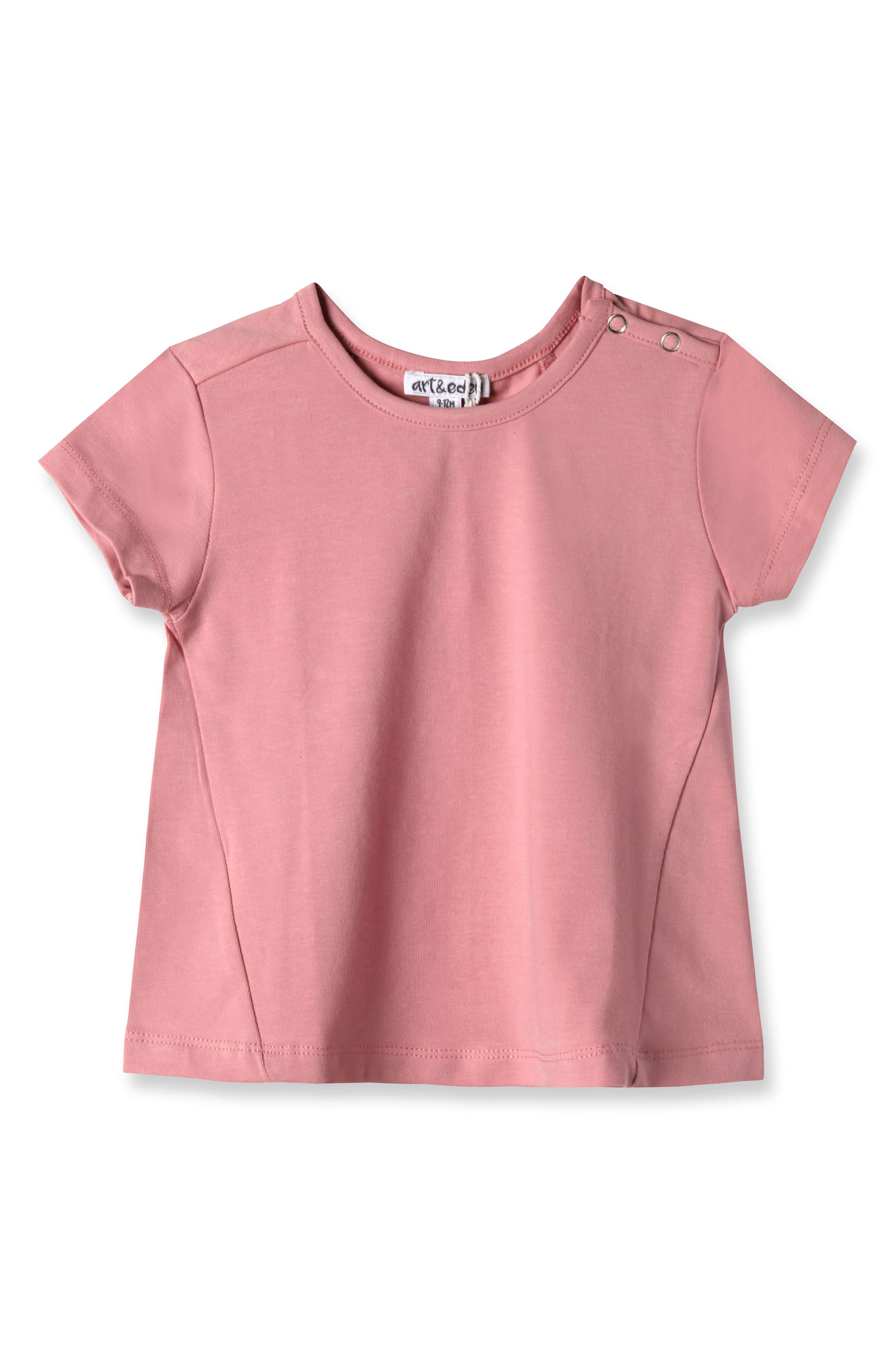 Addison Tee,                             Main thumbnail 1, color,                             Sweet Rose