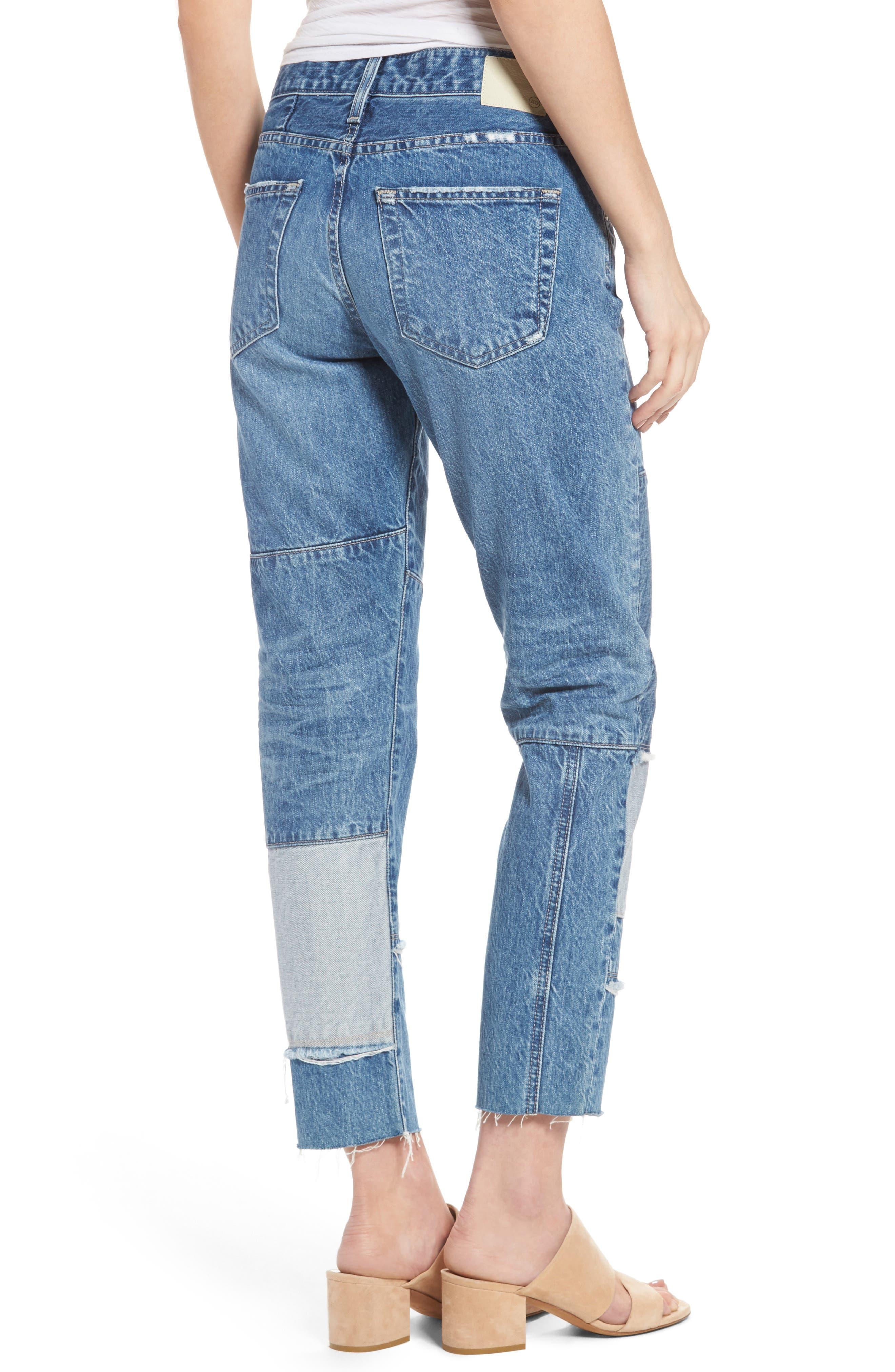 Alternate Image 2  - AG The Ex-Boyfriend Crop Slim Jeans (18 Years Blue Mosque)