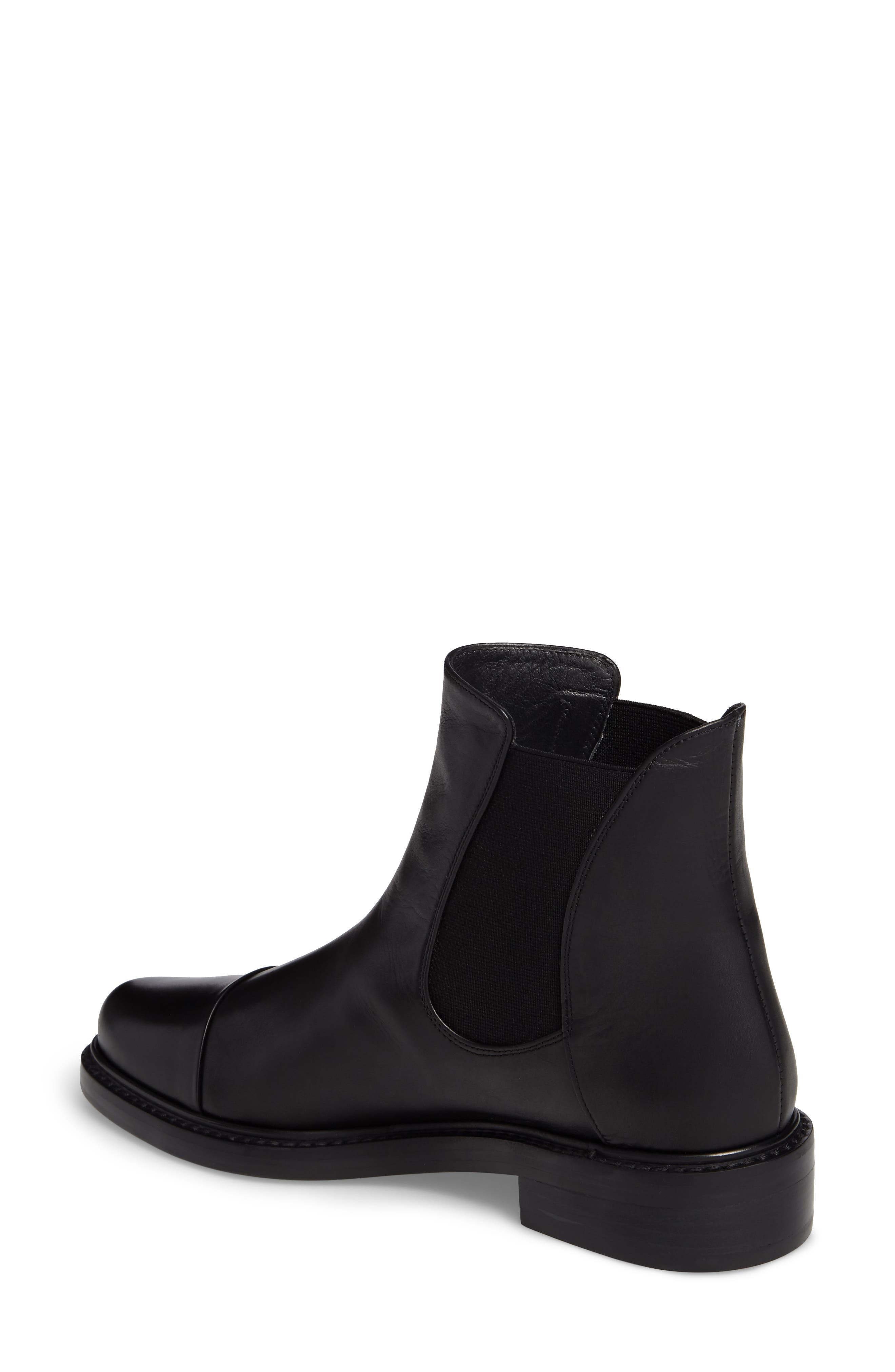 Gobi Cap Toe Chelsea Boot,                             Alternate thumbnail 2, color,                             Black Calf