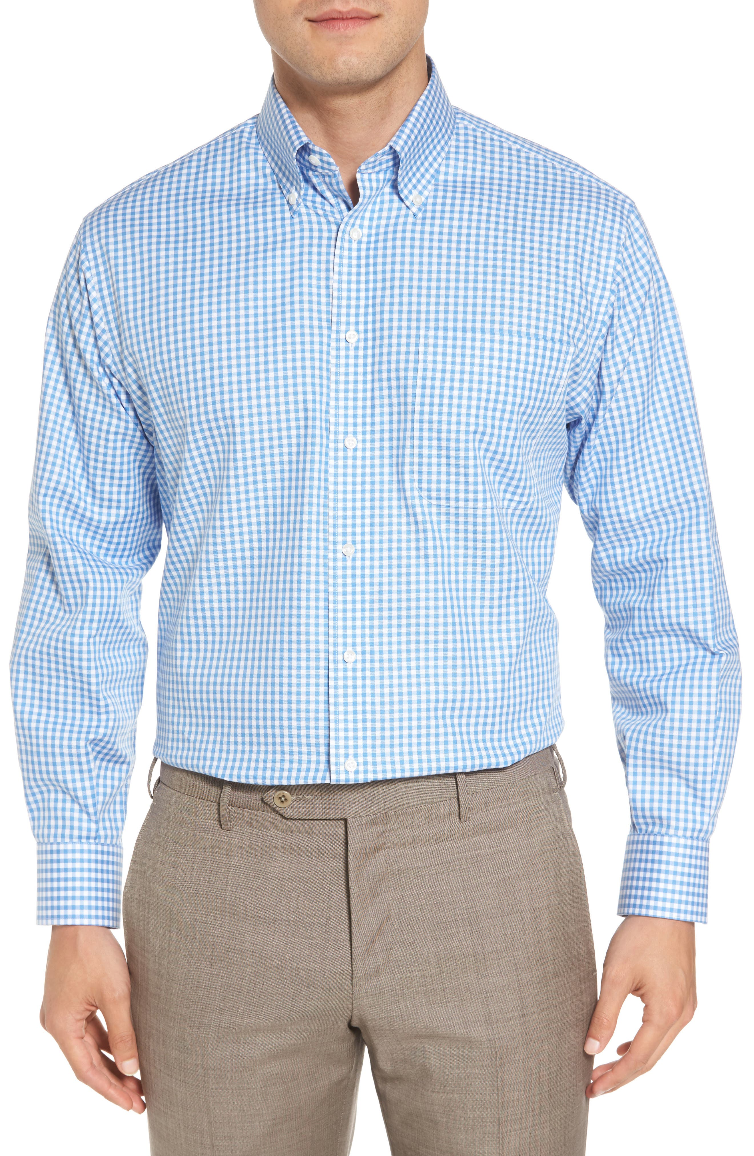 Buy Cheap Factory Outlet Manchester Great Sale Online Nordstrom Men's Shop Trim Fit Non-Iron Stripe Dress Shirt Free Shipping 2018 Store Sale Outlet Cost W0XlwakfC