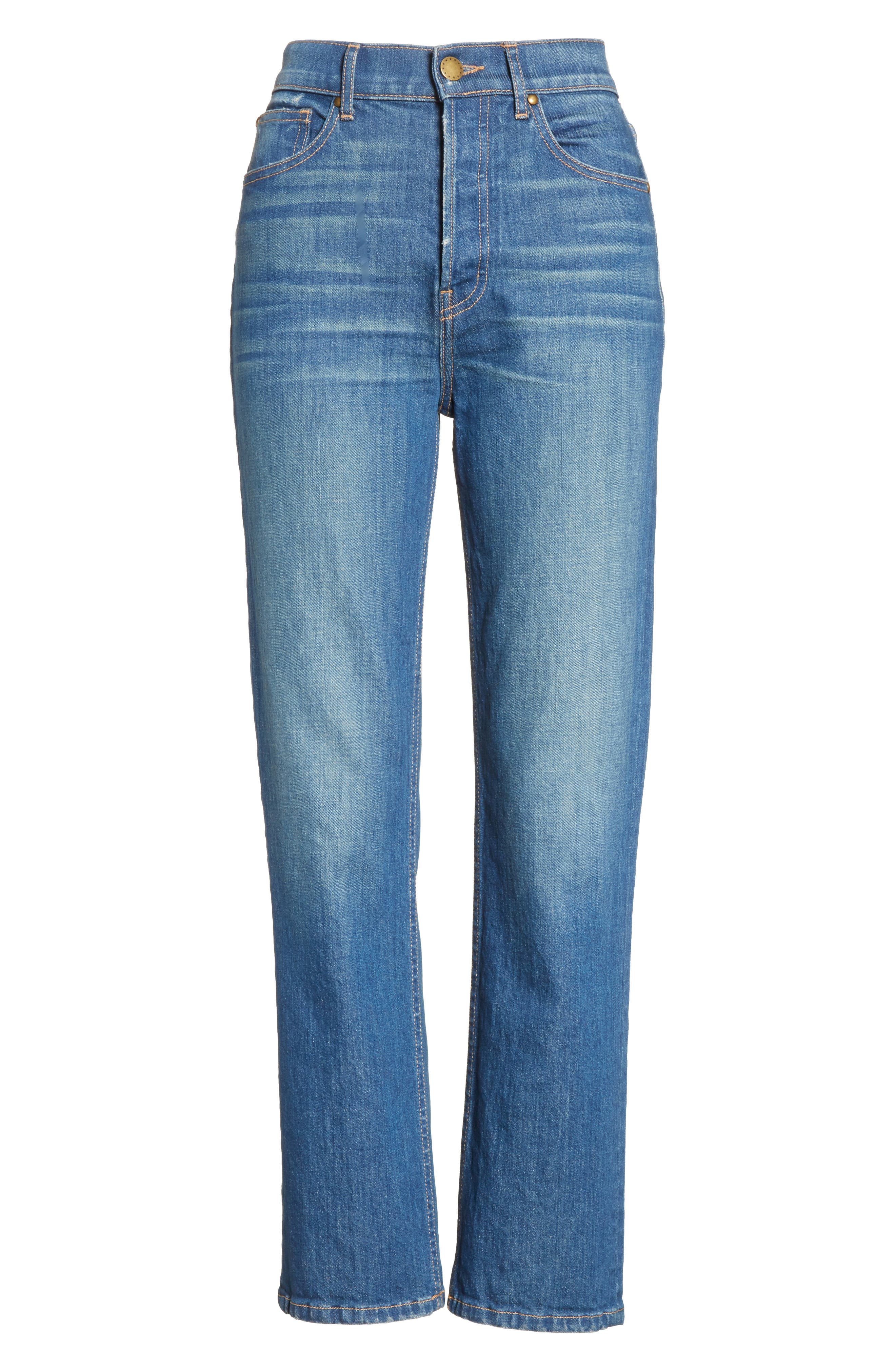 Alternate Image 8  - THE GREAT. The Straight A Jeans (Track Wash)