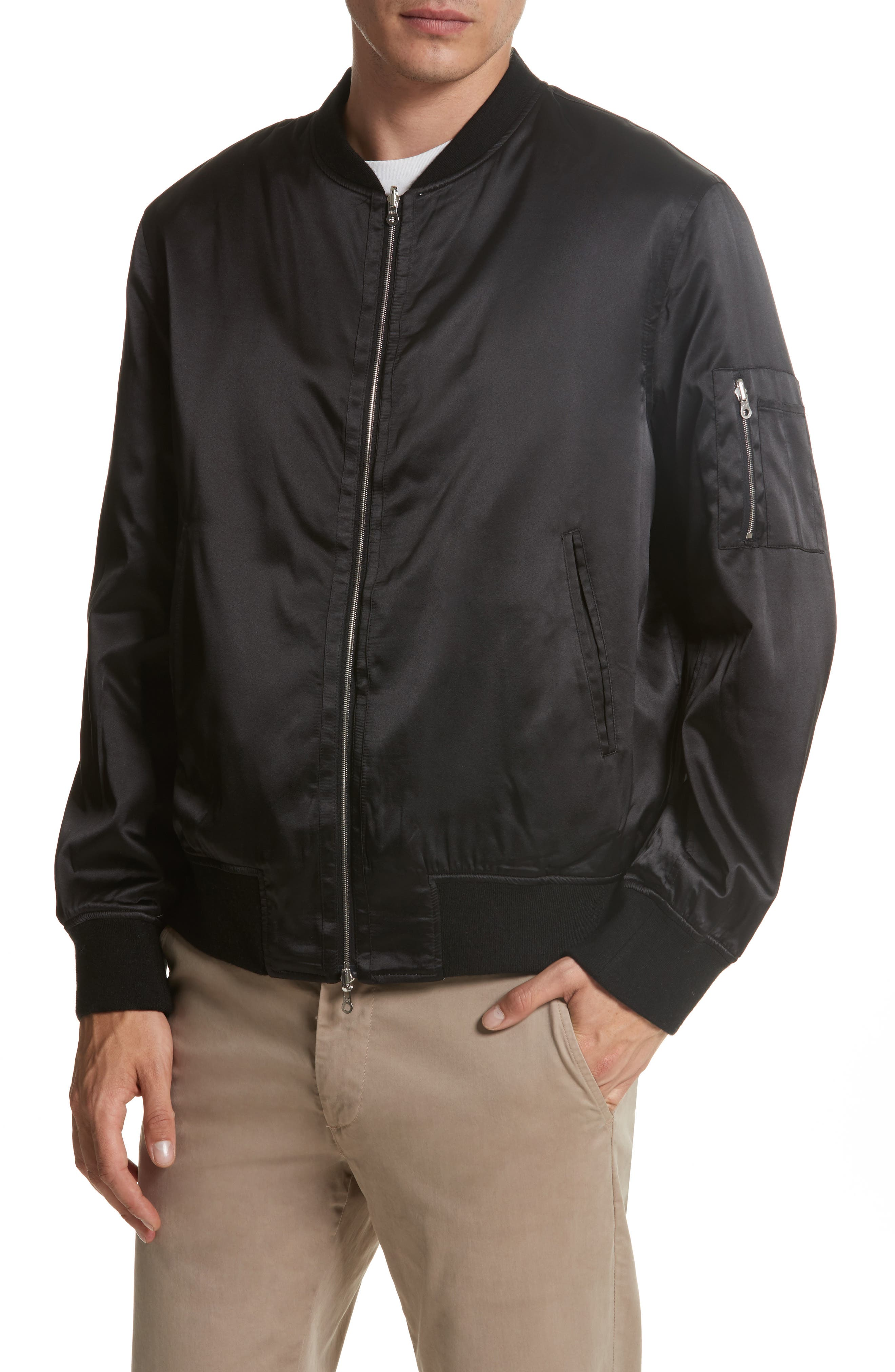Alternate Image 4  - OVADIA & SONS Reversible Zip Front Bomber Jacket