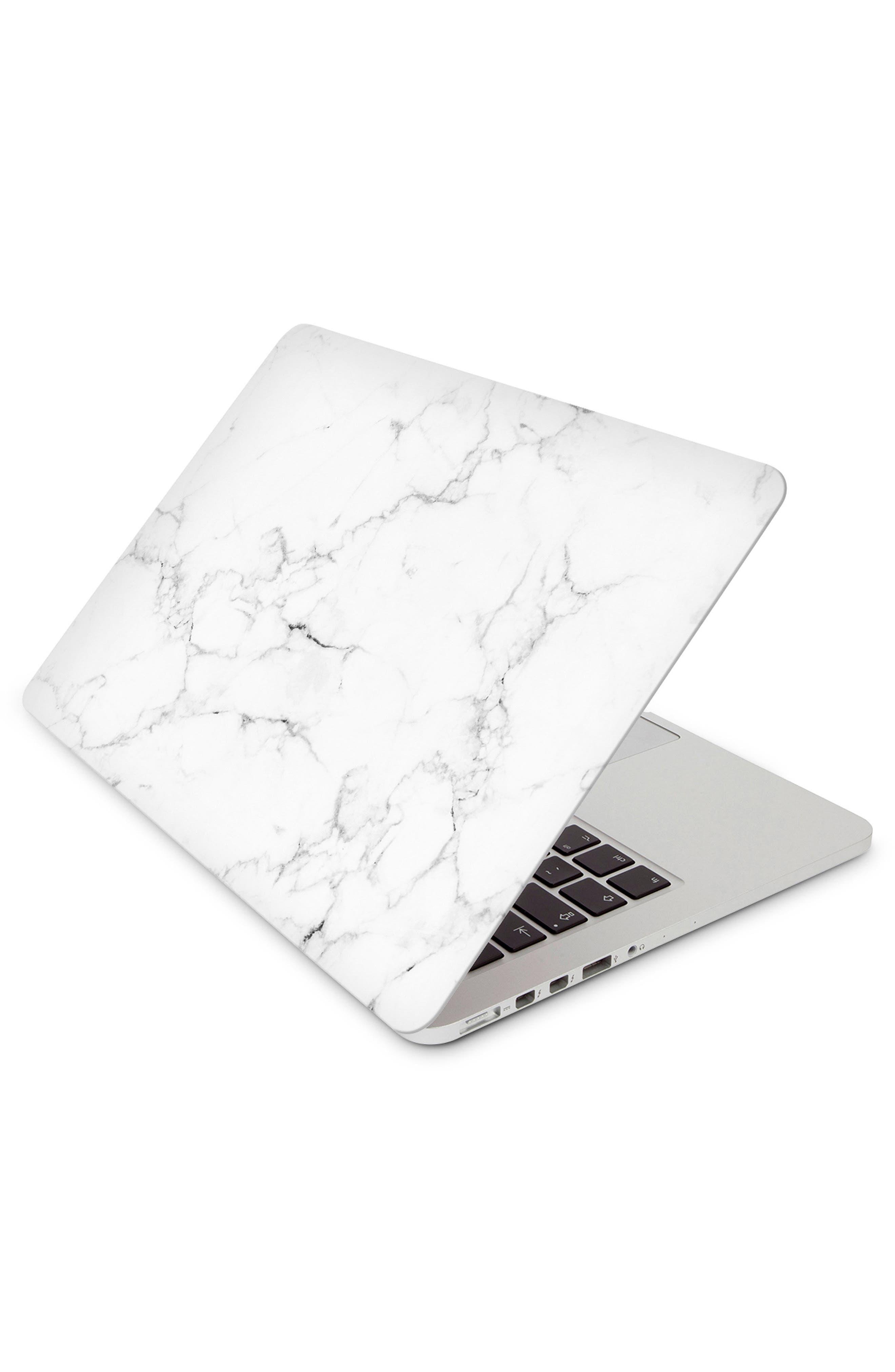 White Marble Laptop Skin,                         Main,                         color, White