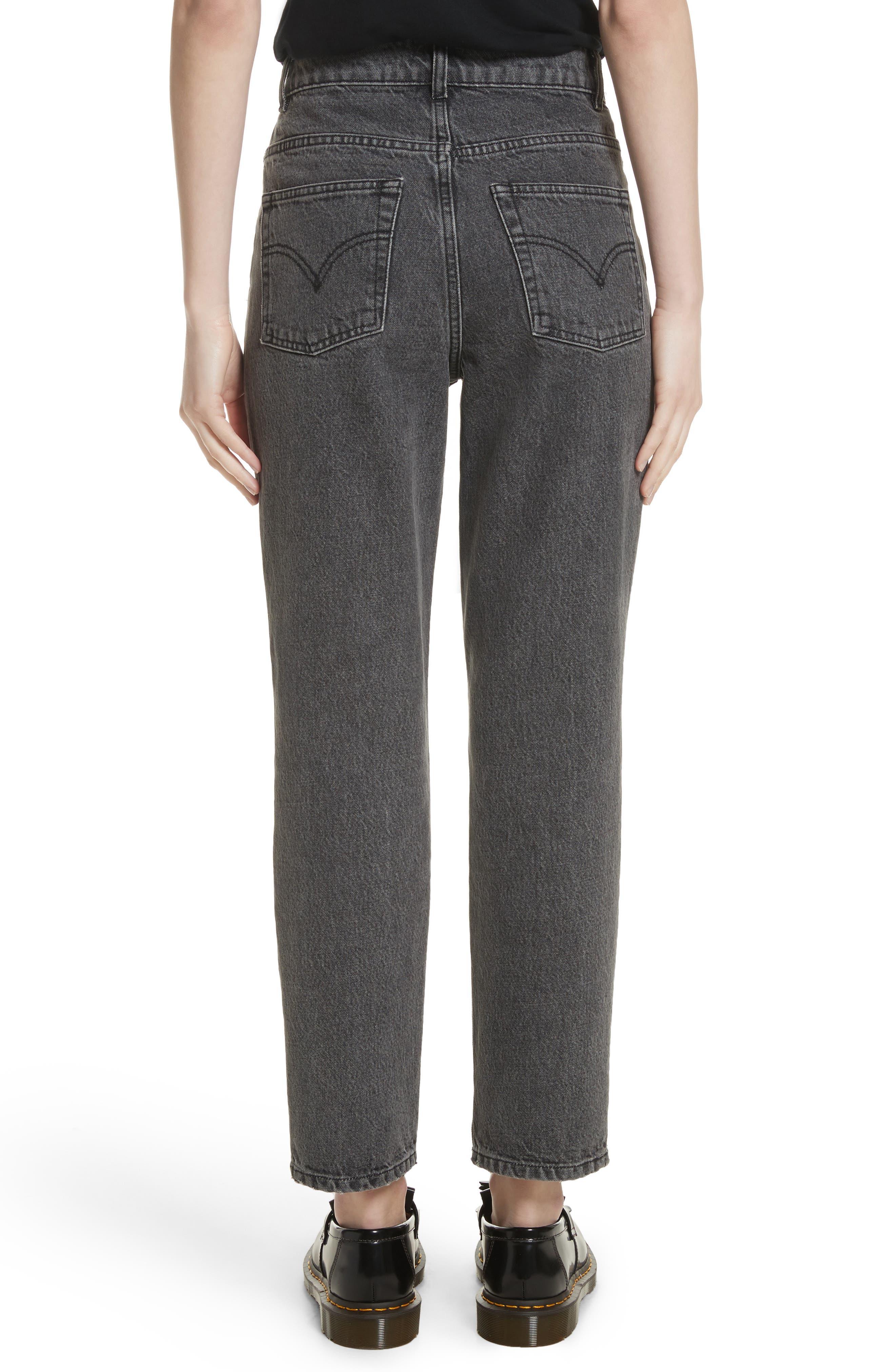 Alternate Image 3  - Ashley Williams Dog Embroidered Jeans (Grey)